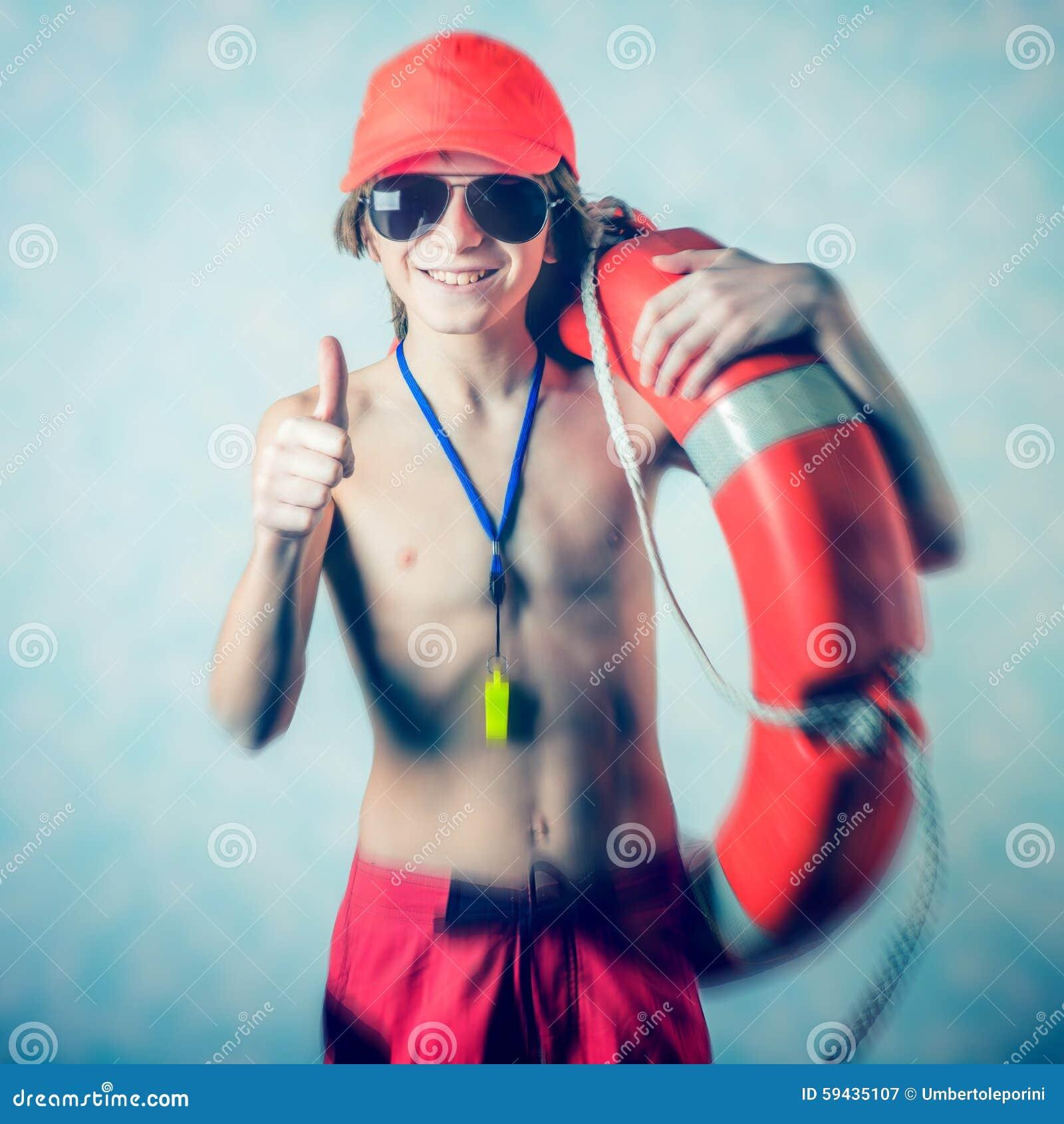 Strandleibwächterjunge