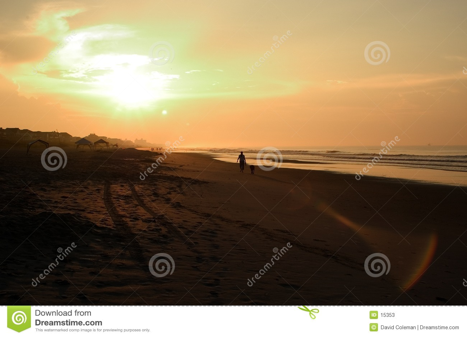 Strandsonnenaufgang, Nord-Carolina