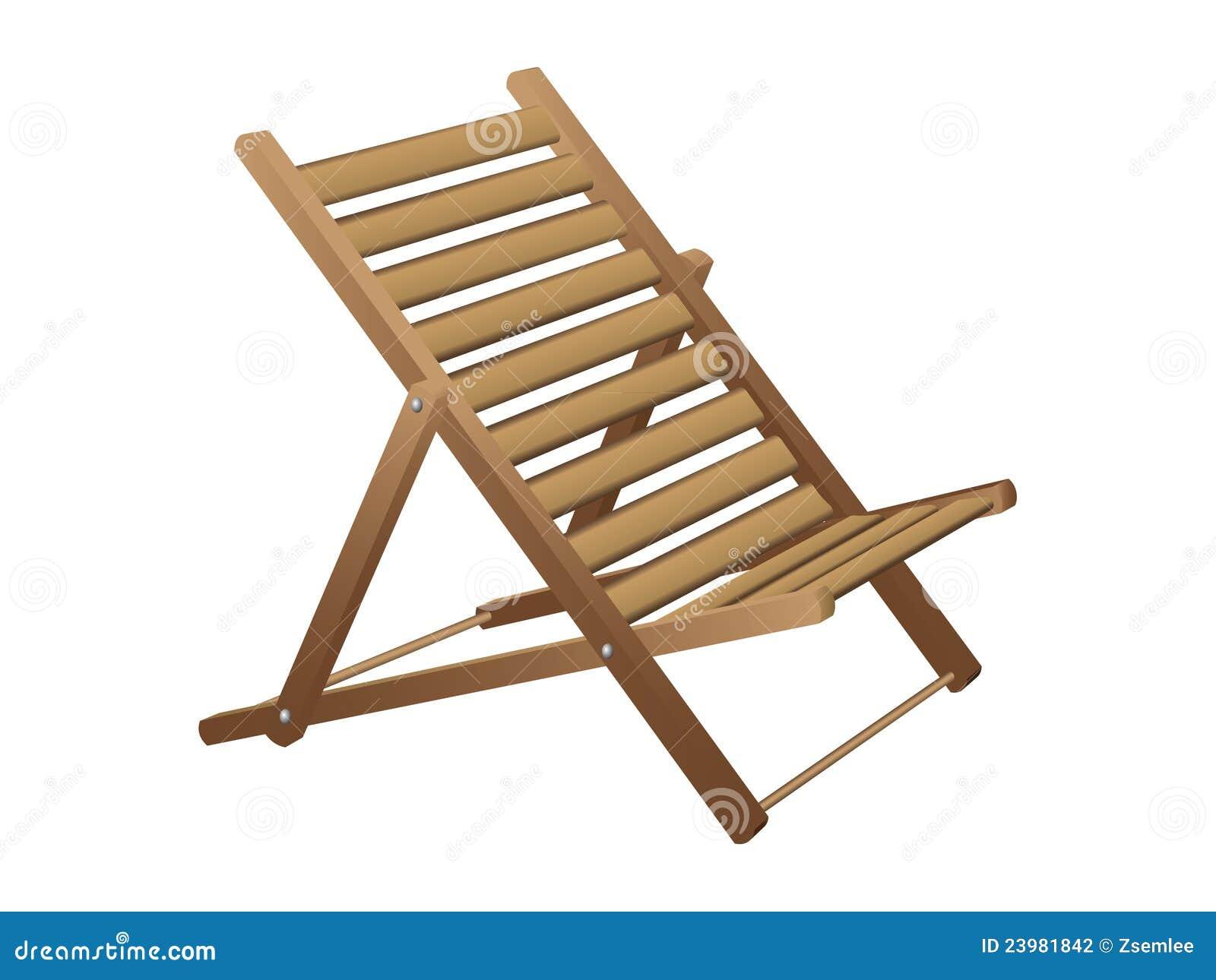 strandstol i trä