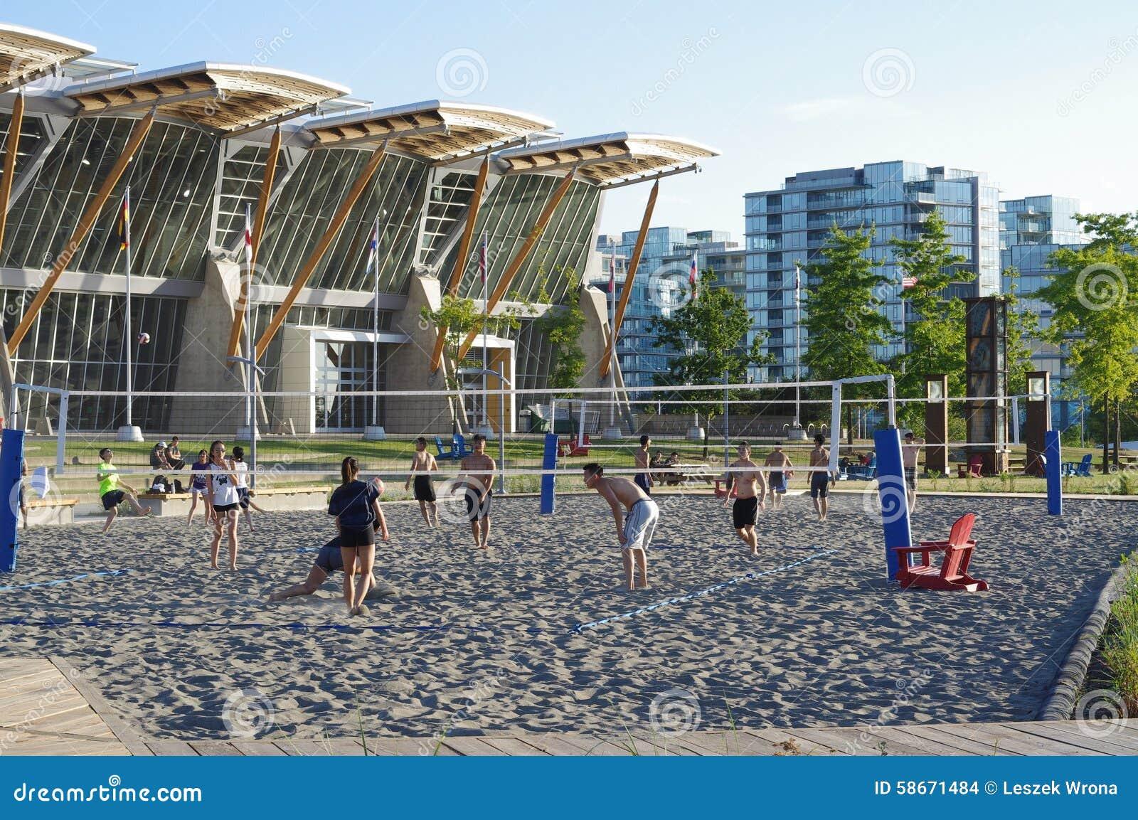 Strandvolleyboll på Richmond Olympic Oval, Kanada
