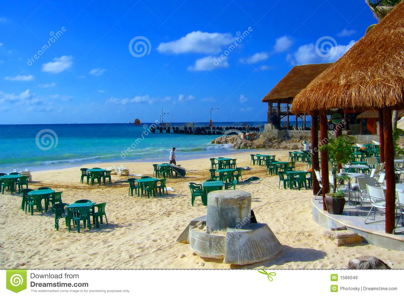 Strange Artifact In A Beach Restaurant In Cancun Stock Image Image