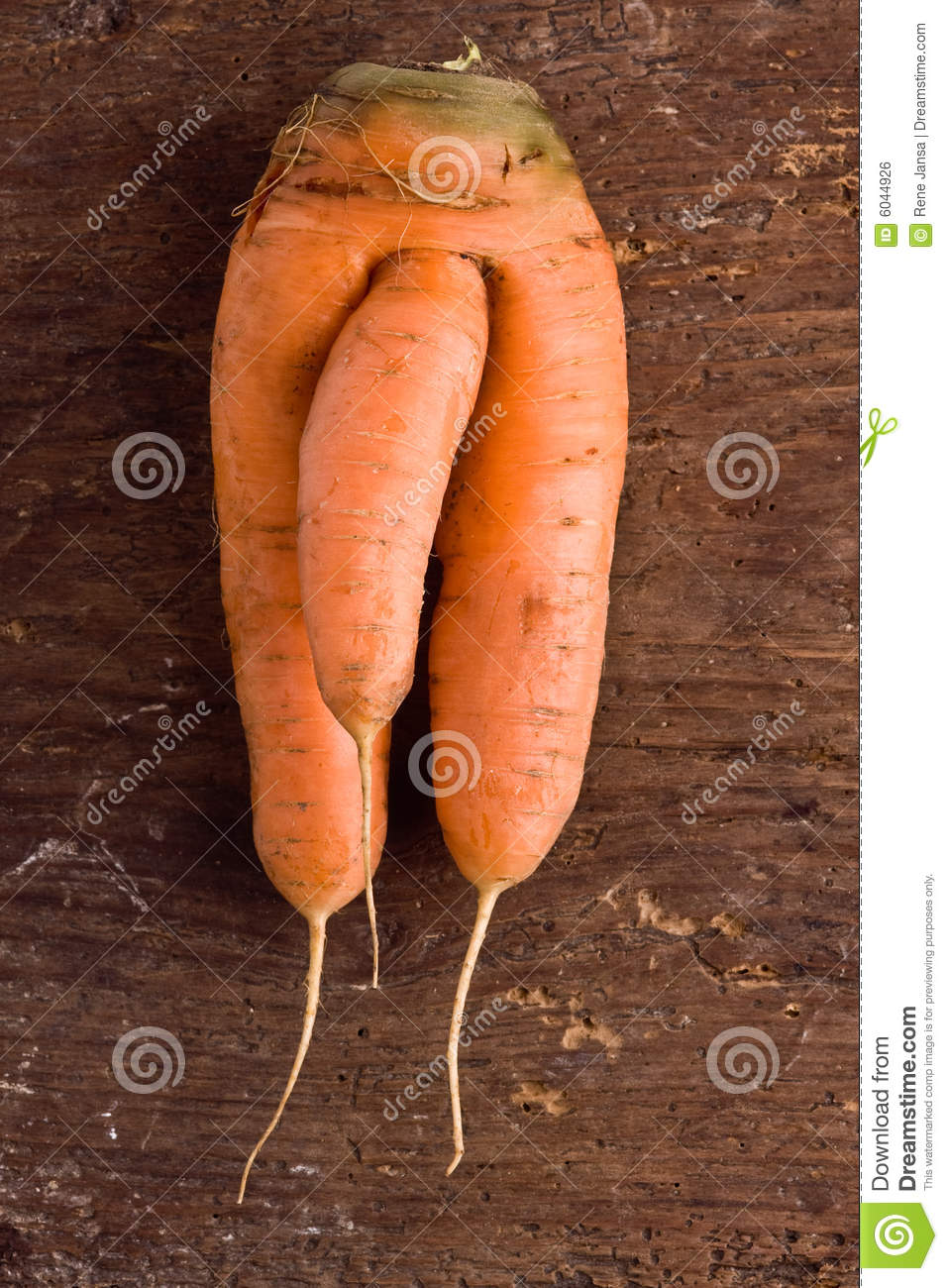 Strange Carrot Royalty Free Stock Image - Image: 6044926