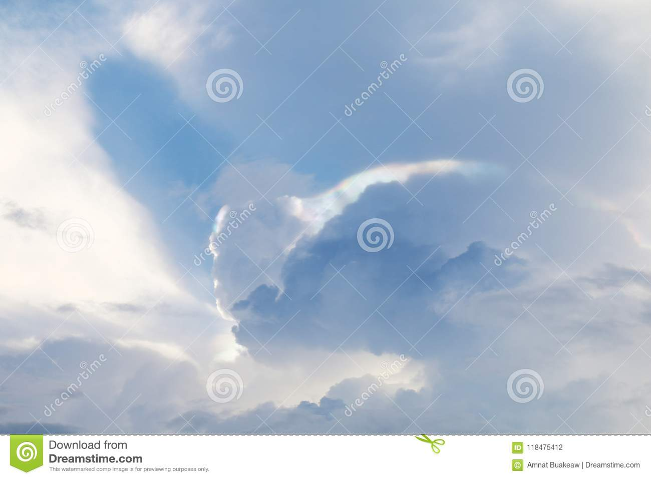 strange sky and light over spectrum, sky cloud background stock