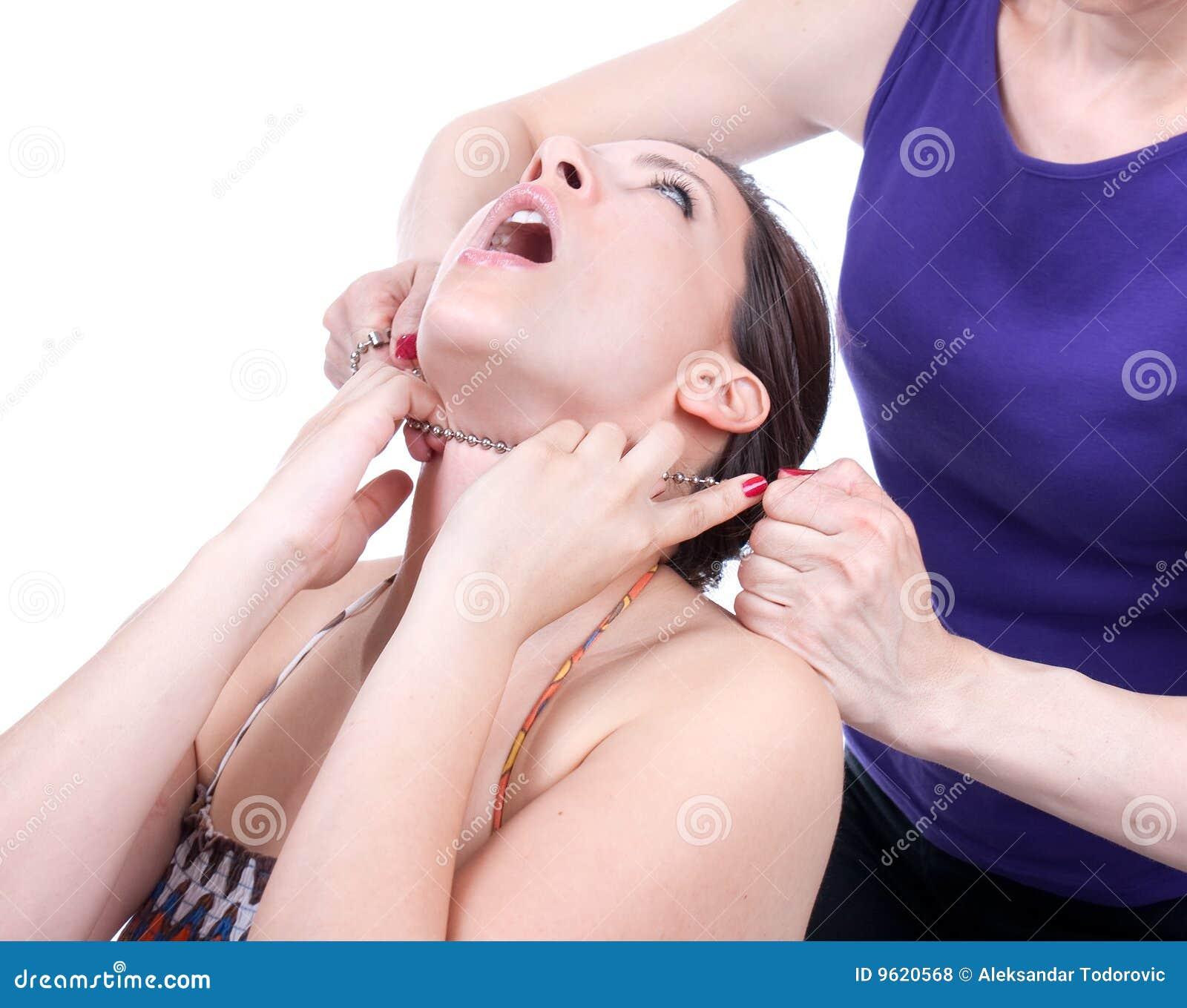 Free redhead choking