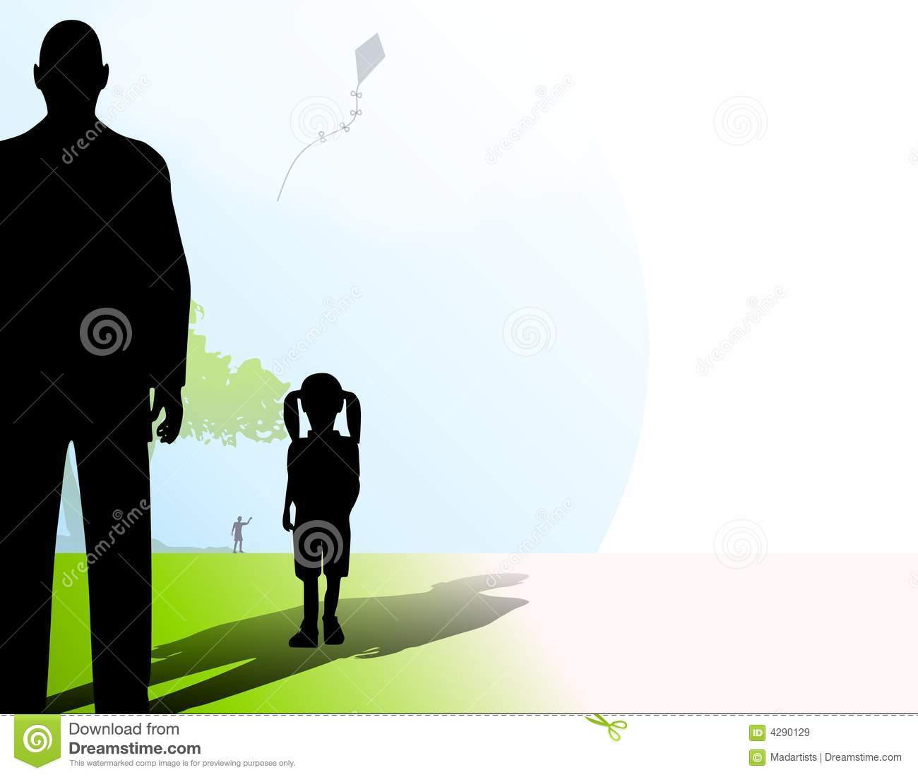 Stranger With Little Girl In Park