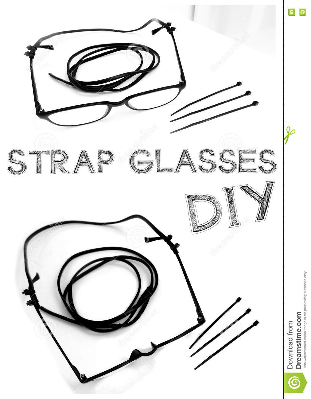 Strap glasses diy idea stock image image of object idea 73692839 strap glasses do it yourself my idea made from power cables or small talk and cable tie have word freehand sketch solutioingenieria Gallery