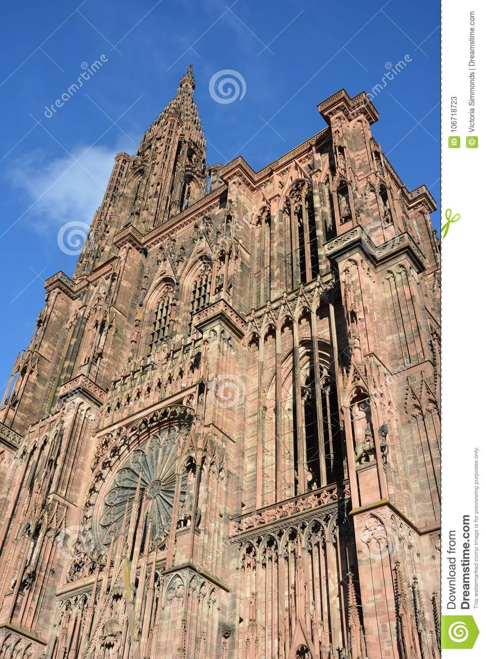 Strasbourg Cathedral De Notre Dame Stock Image Image Of