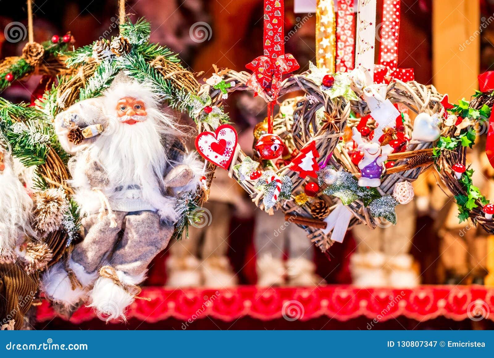 Christmas In France Decorations.Strasbourg Christmas Market France Stock Image Image Of
