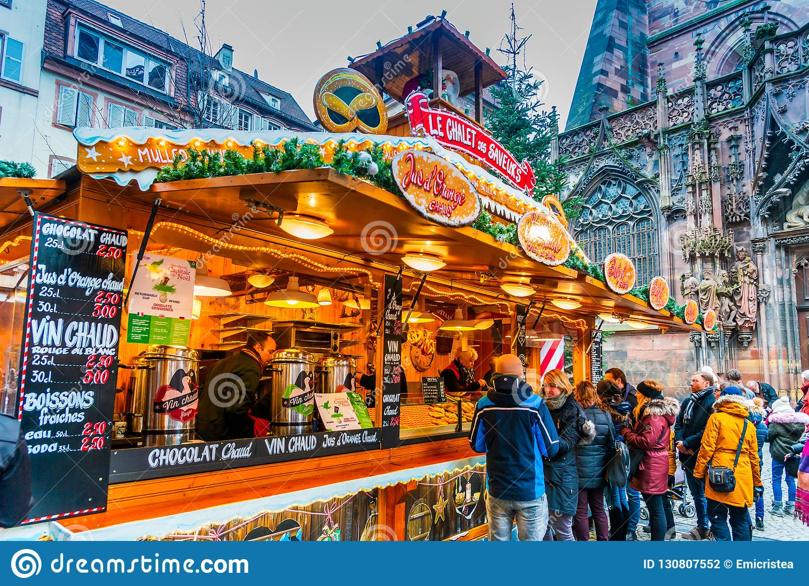 Strasbourg Christmas Market.Strasbourg Christmas Market France Editorial Photography