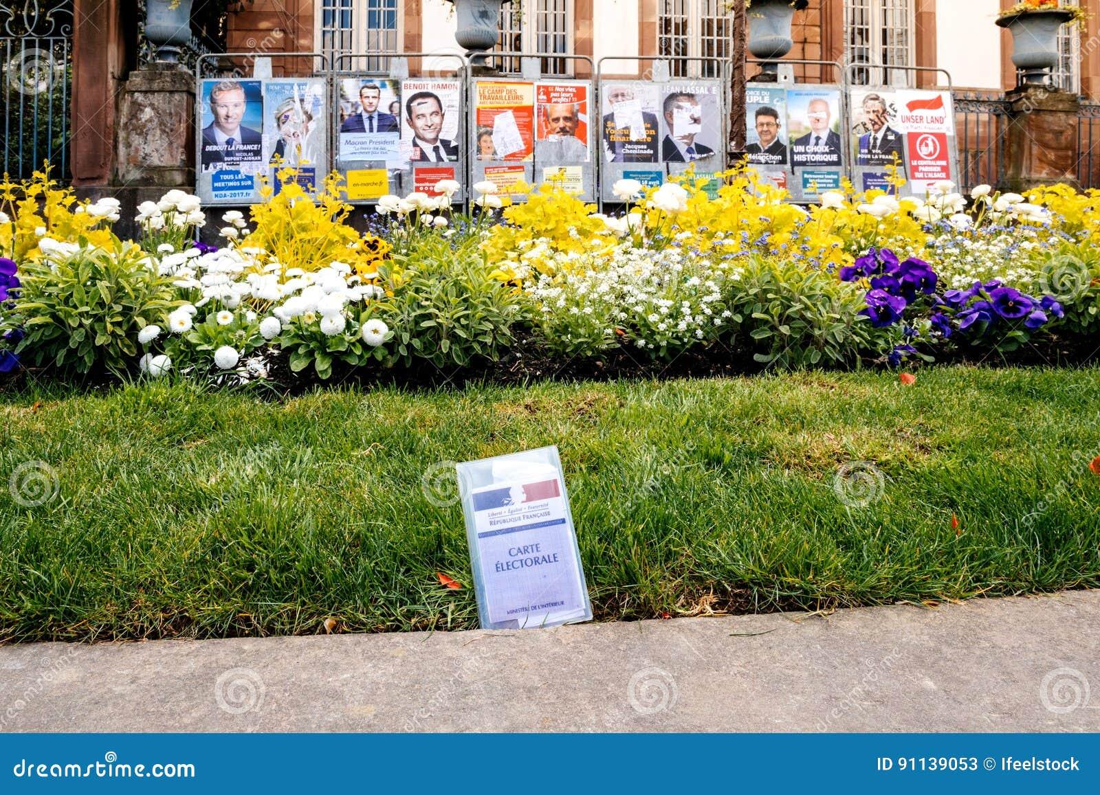 Strasbourg city hall voters card carte electorale