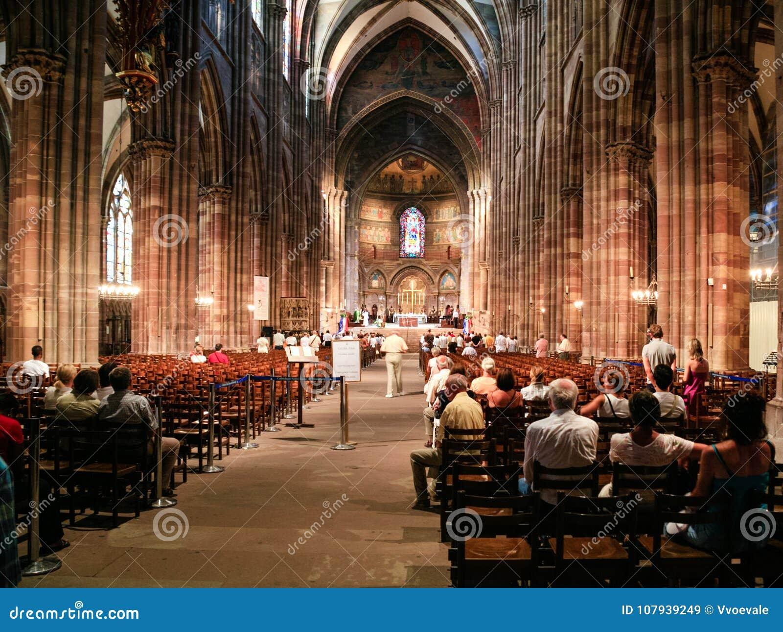 Church service in Strasbourg Cathedra