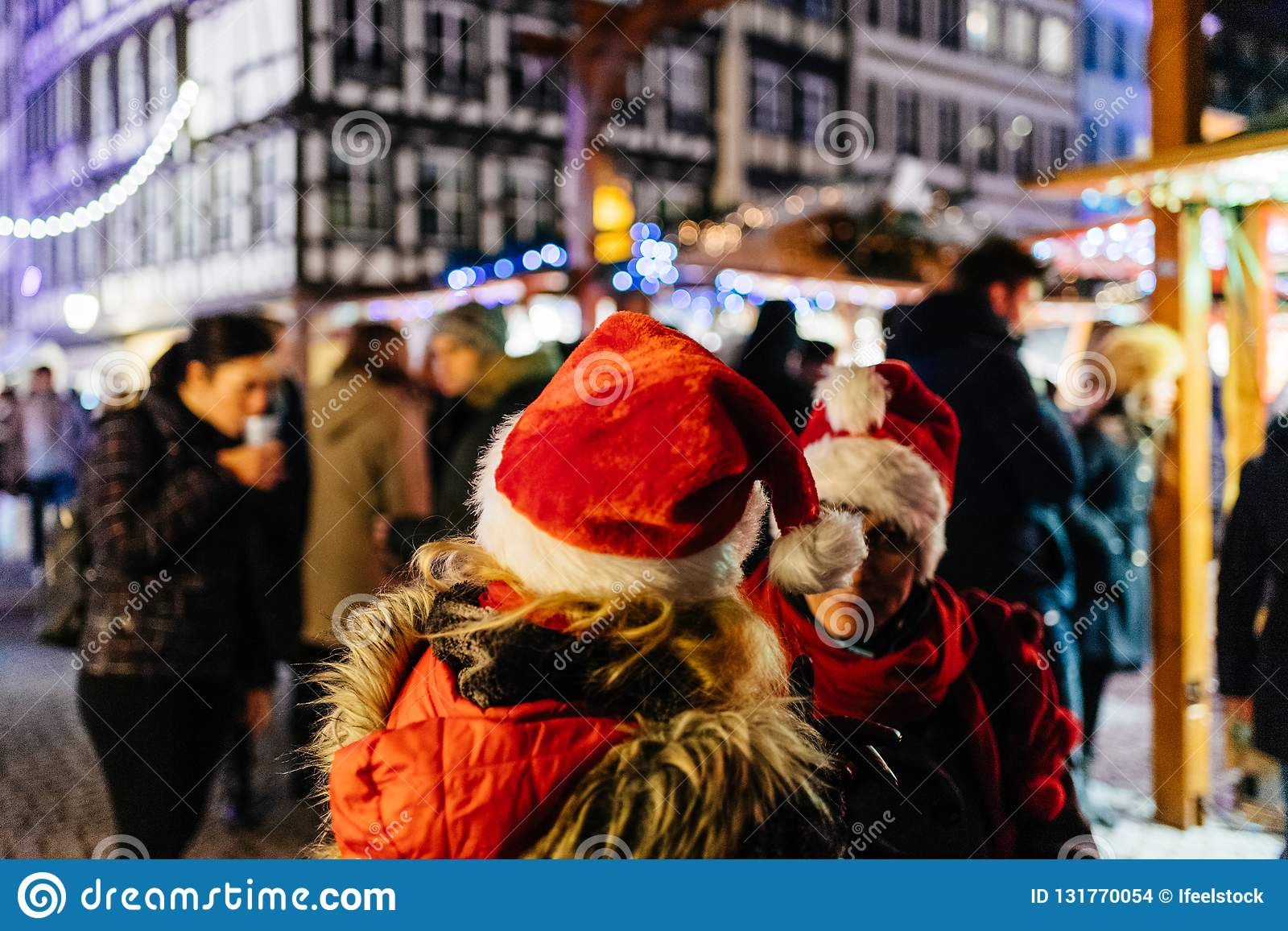 Two Adult Women Wearing Funny Christmas Hats Editorial Stock Image ... 8ff87f235d