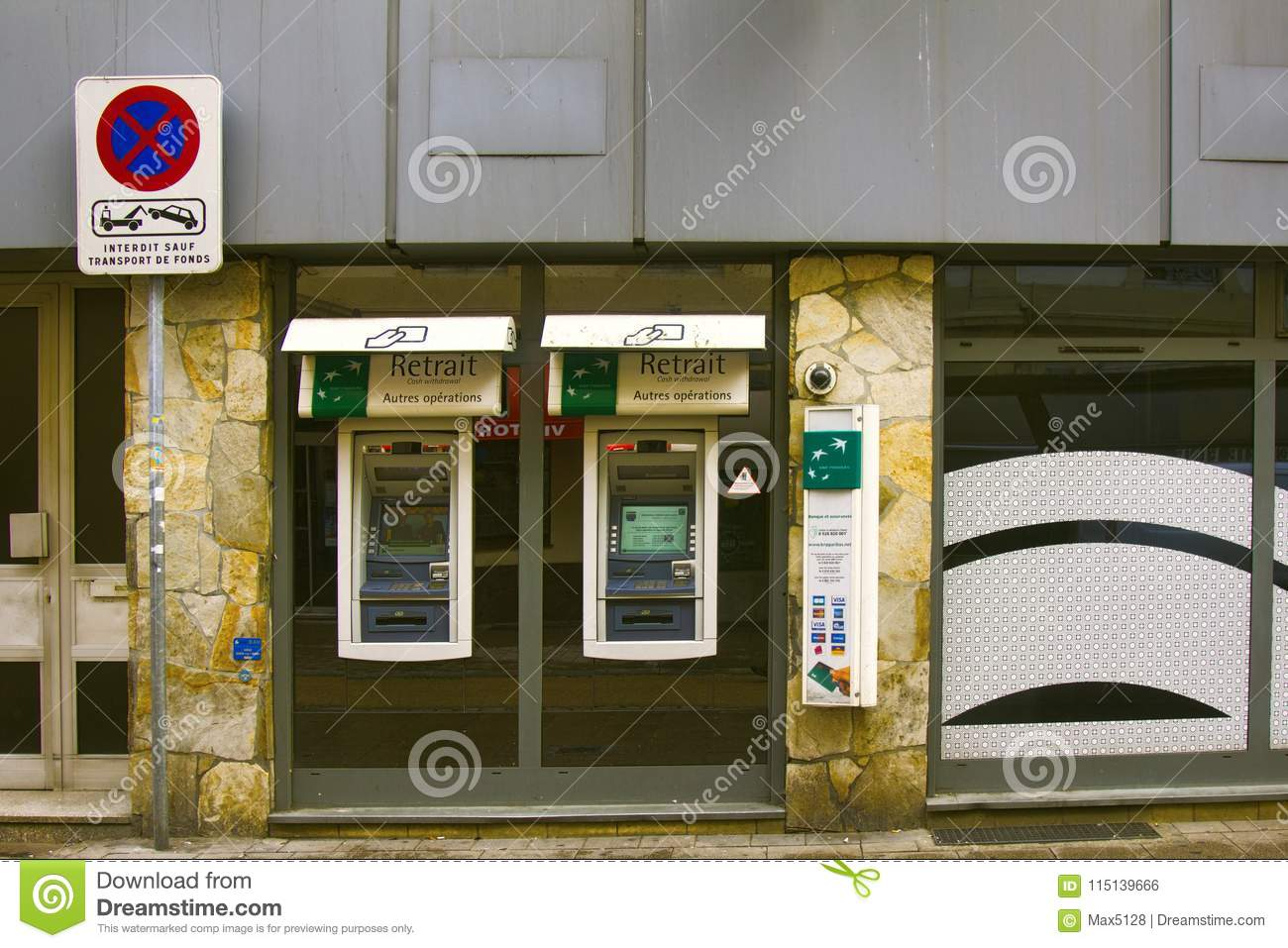 Atms Obtaining Money Through Atm Editorial Photo Image Of Finance Wiring Without Id Strasbourg France October 17 2017 Cash Casa Banks And Wire Around The World