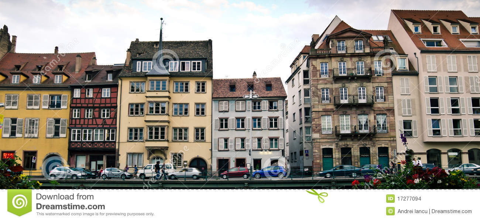 strasbourg street stock photo image of architecture 17277094. Black Bedroom Furniture Sets. Home Design Ideas