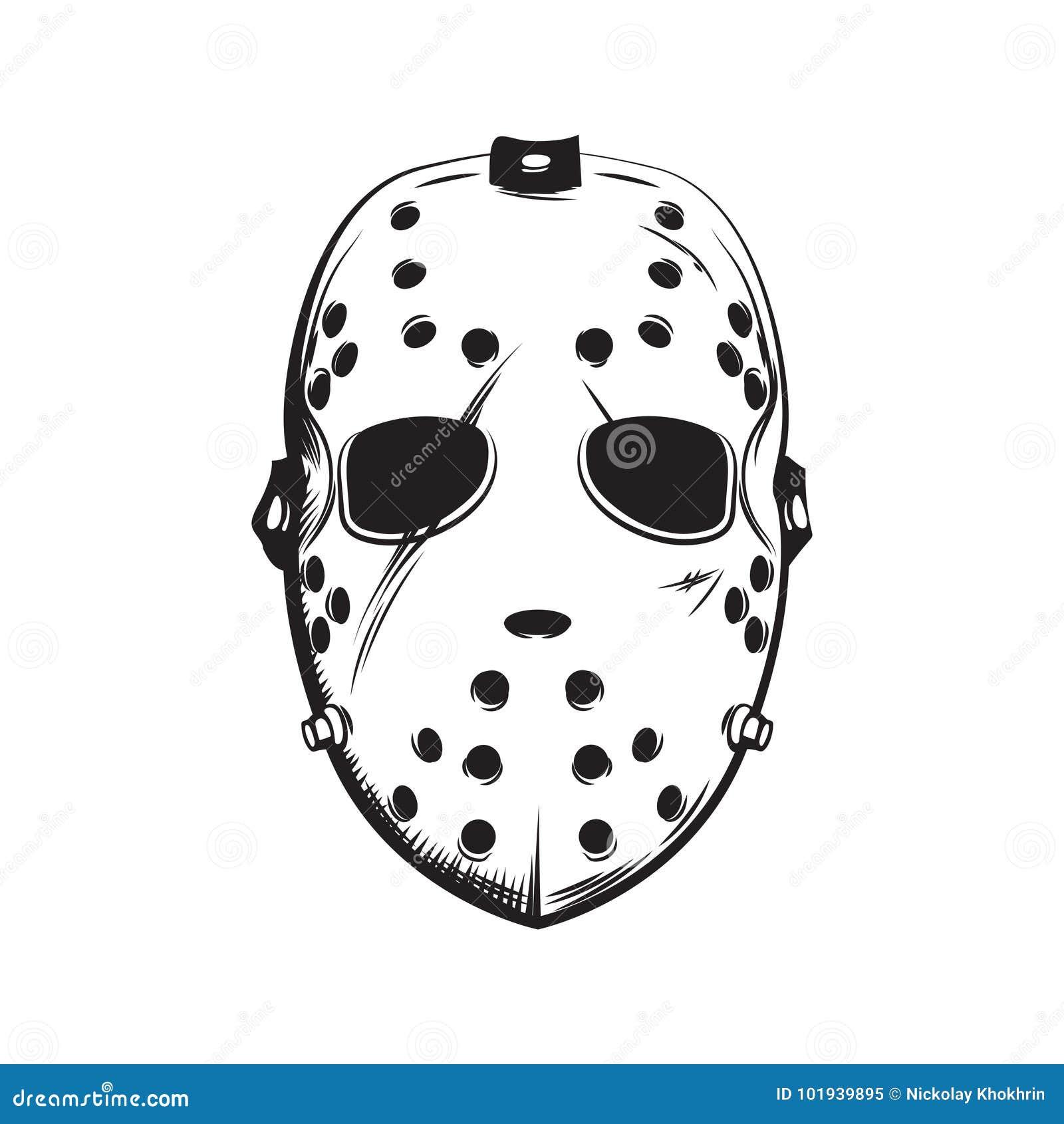 Straszna hokej maski ilustracja