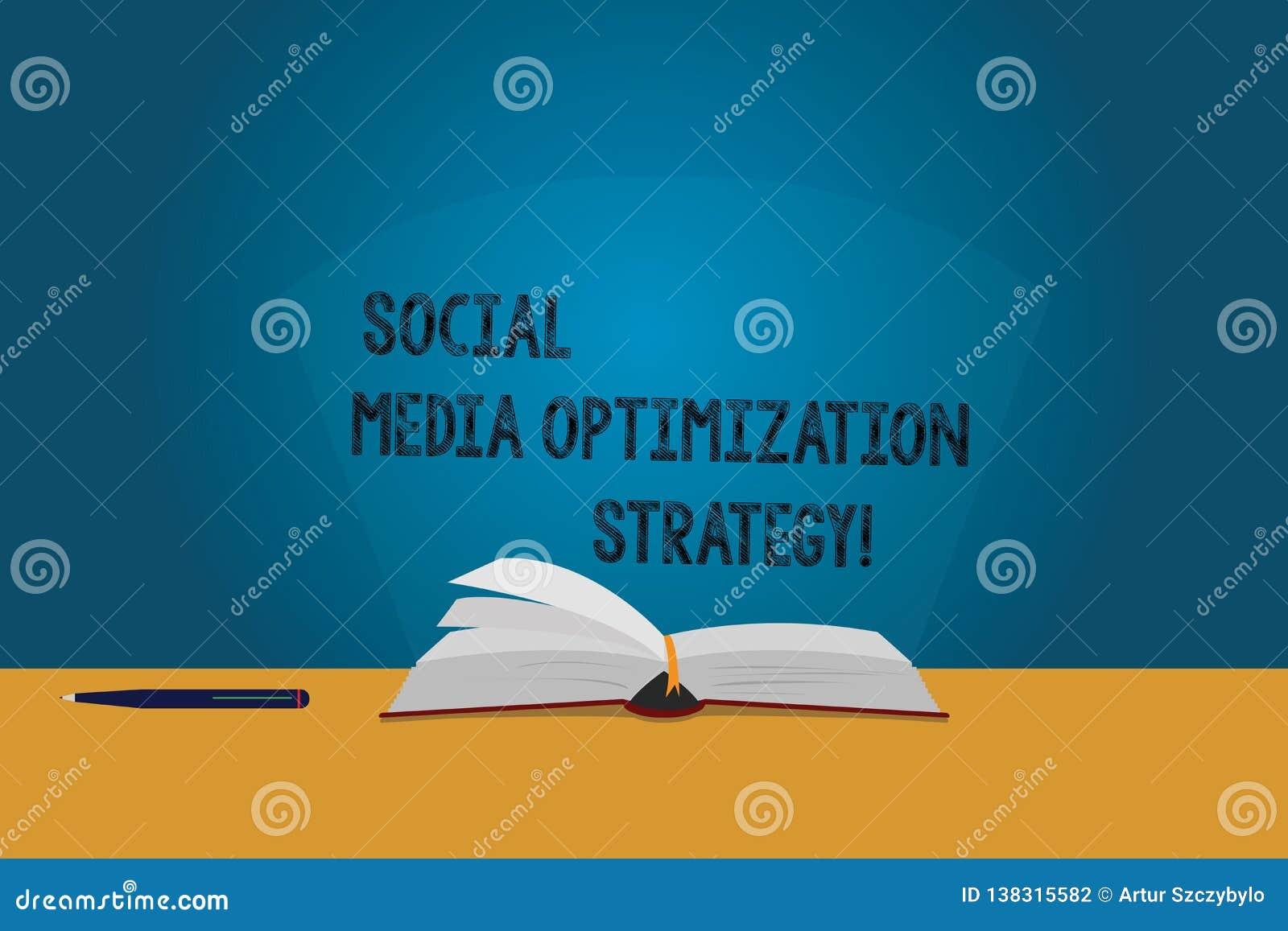 Stratégie d optimisation sociale de médias des textes d écriture Le concept signifiant des stratégies de SEO Advertising Marketin