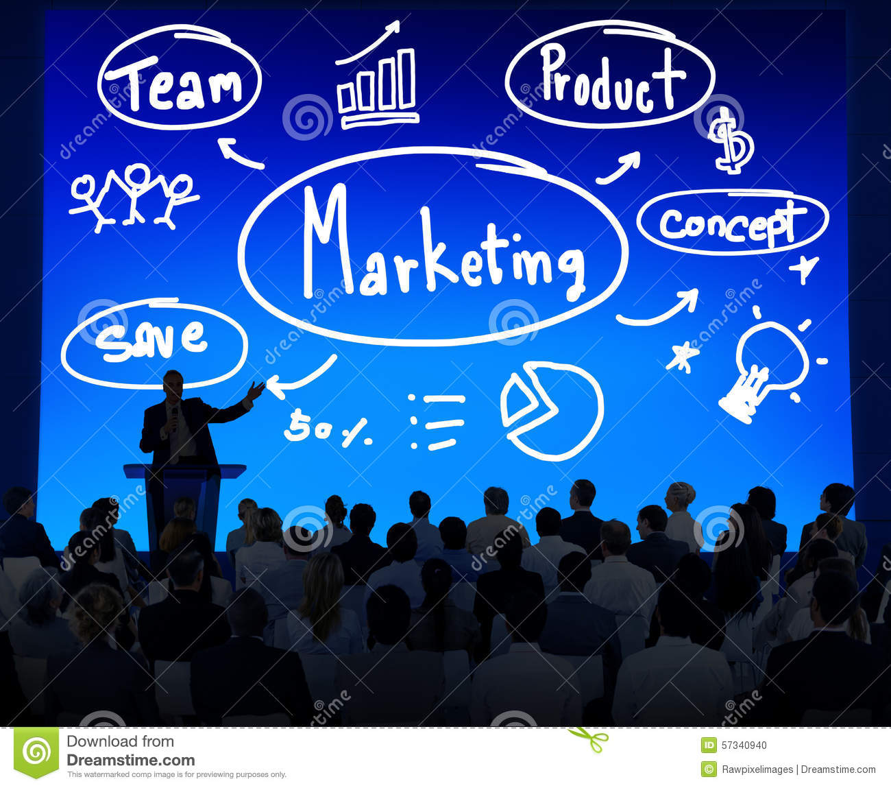 Stratégie marketing Team Business Commercial Advertising Concept