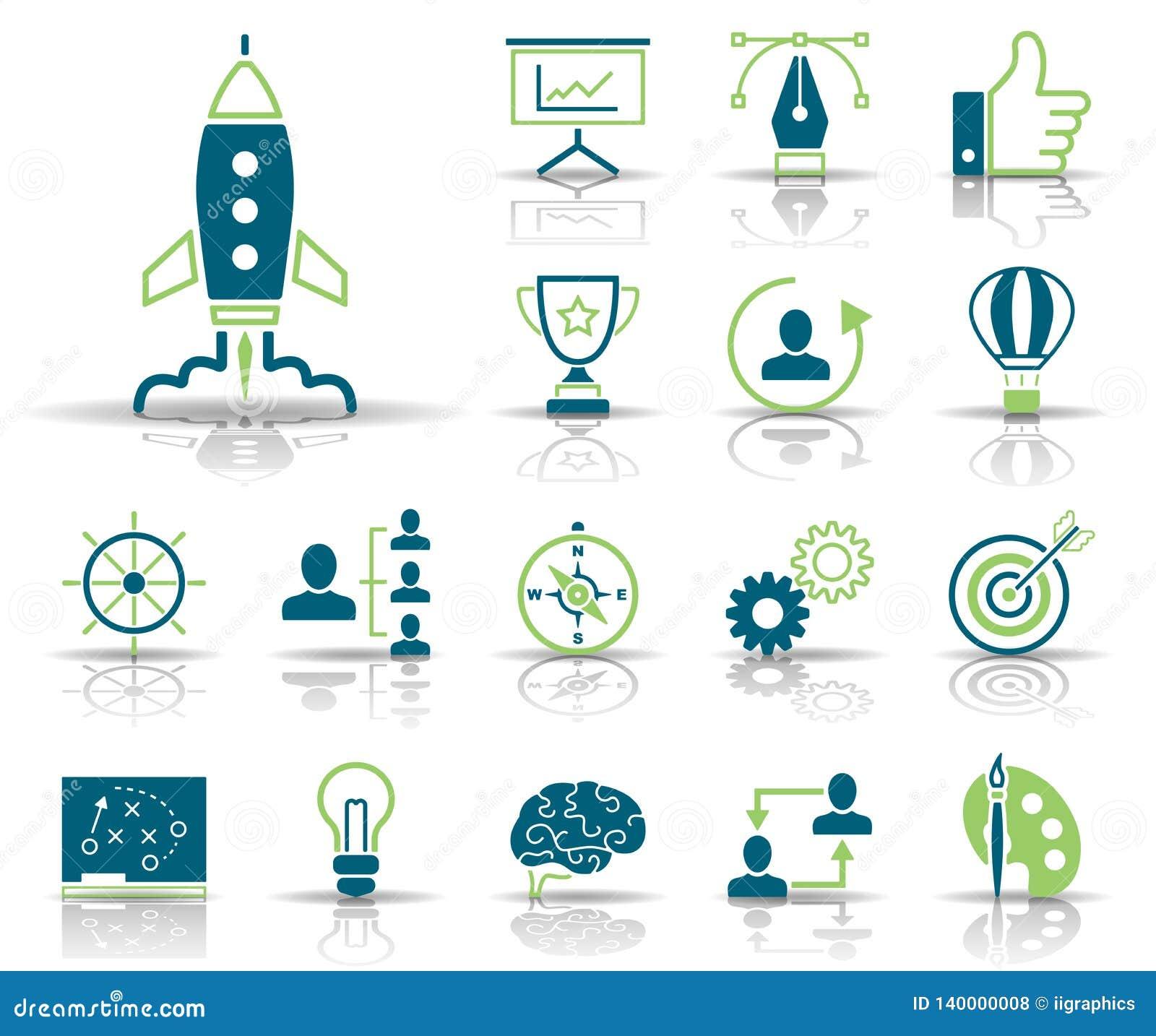 Strategi & kreativitet - Iconset - symboler