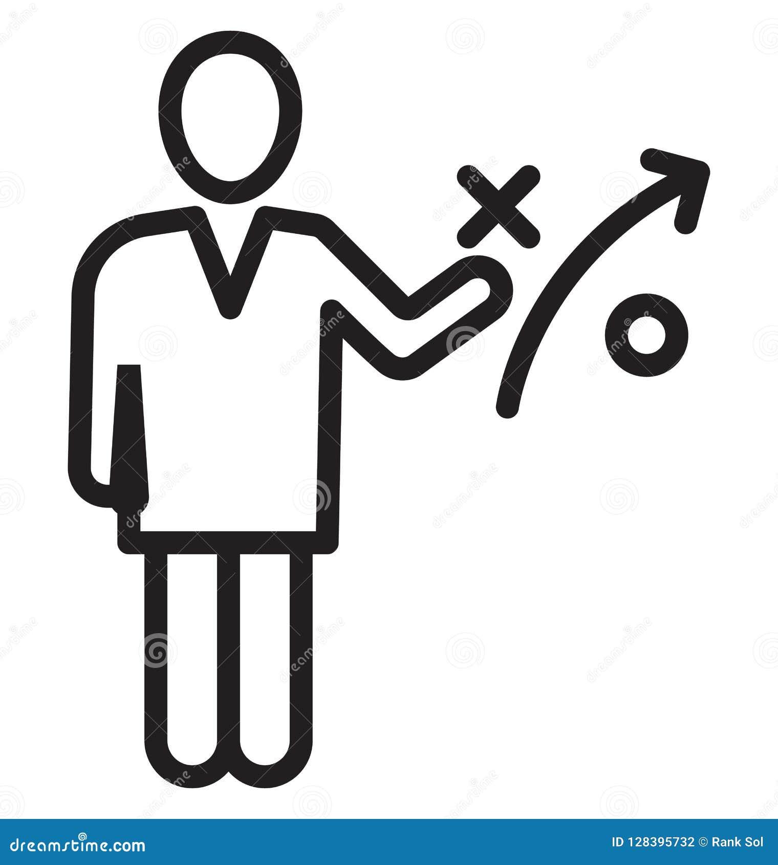 Strategia biznesowa, biznesmen Odizolowywająca Wektorowa ikona może być łatwo redaguje i modyfikuje