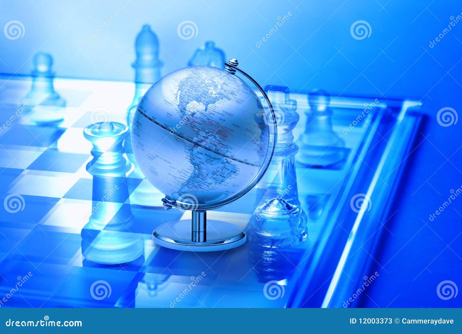 Strategia biznesowy szachowy świat