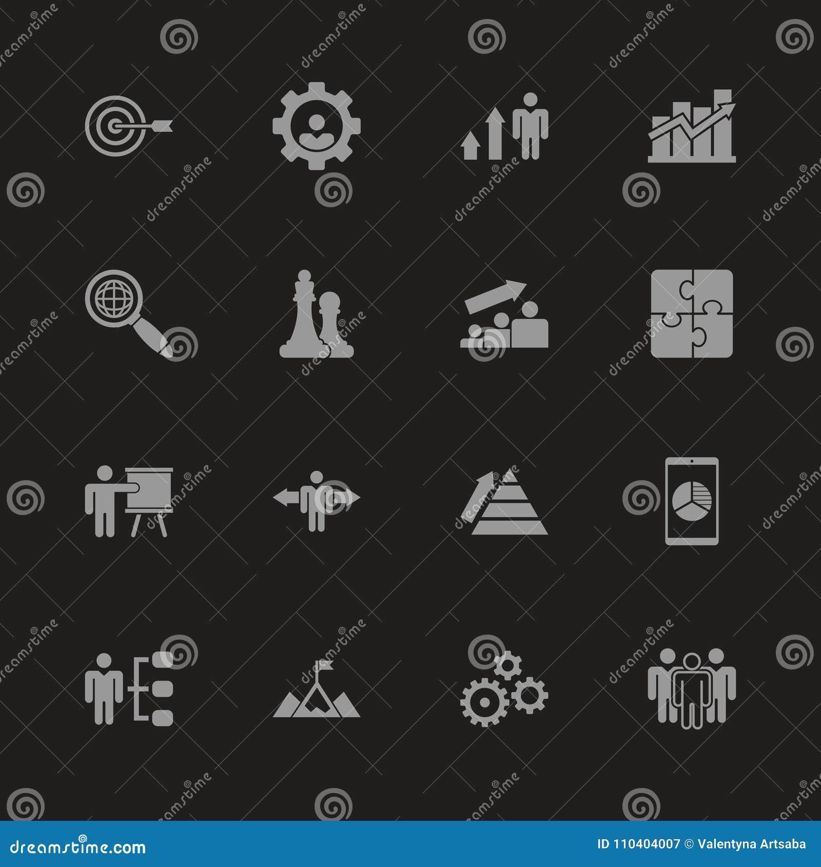 Strategia - Płaskie Wektorowe ikony