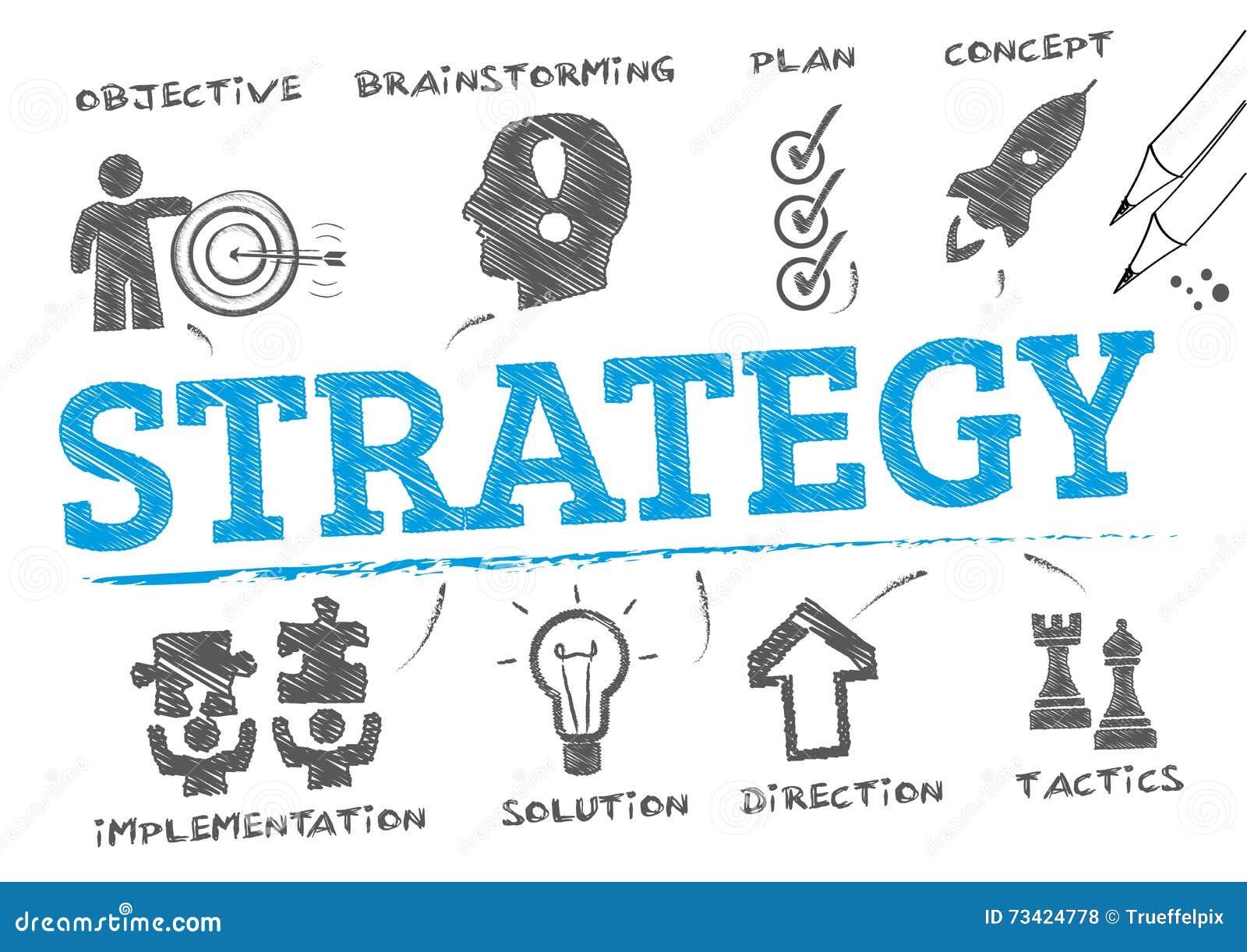 Strategia plan również zwrócić corel ilustracji wektora