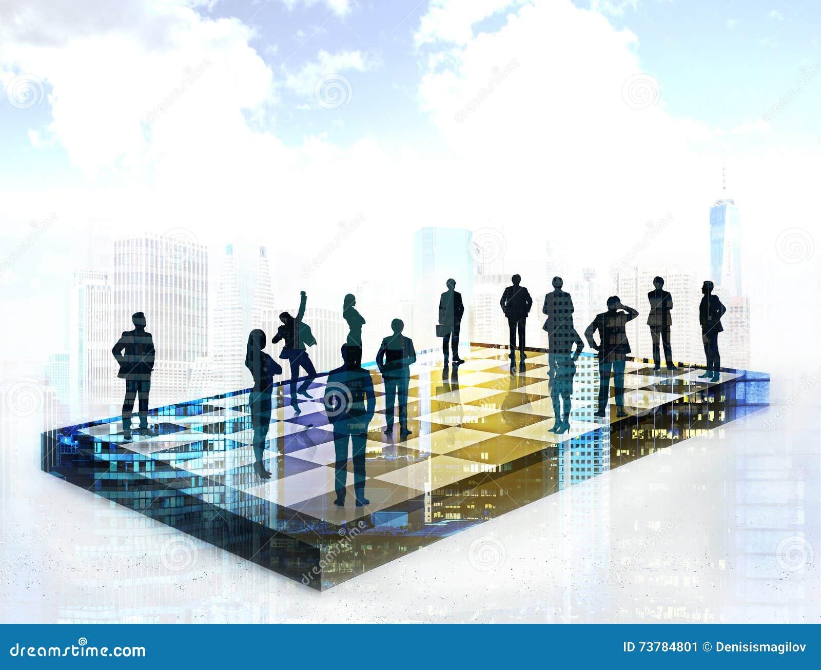 Strategic planning and teamwork concept