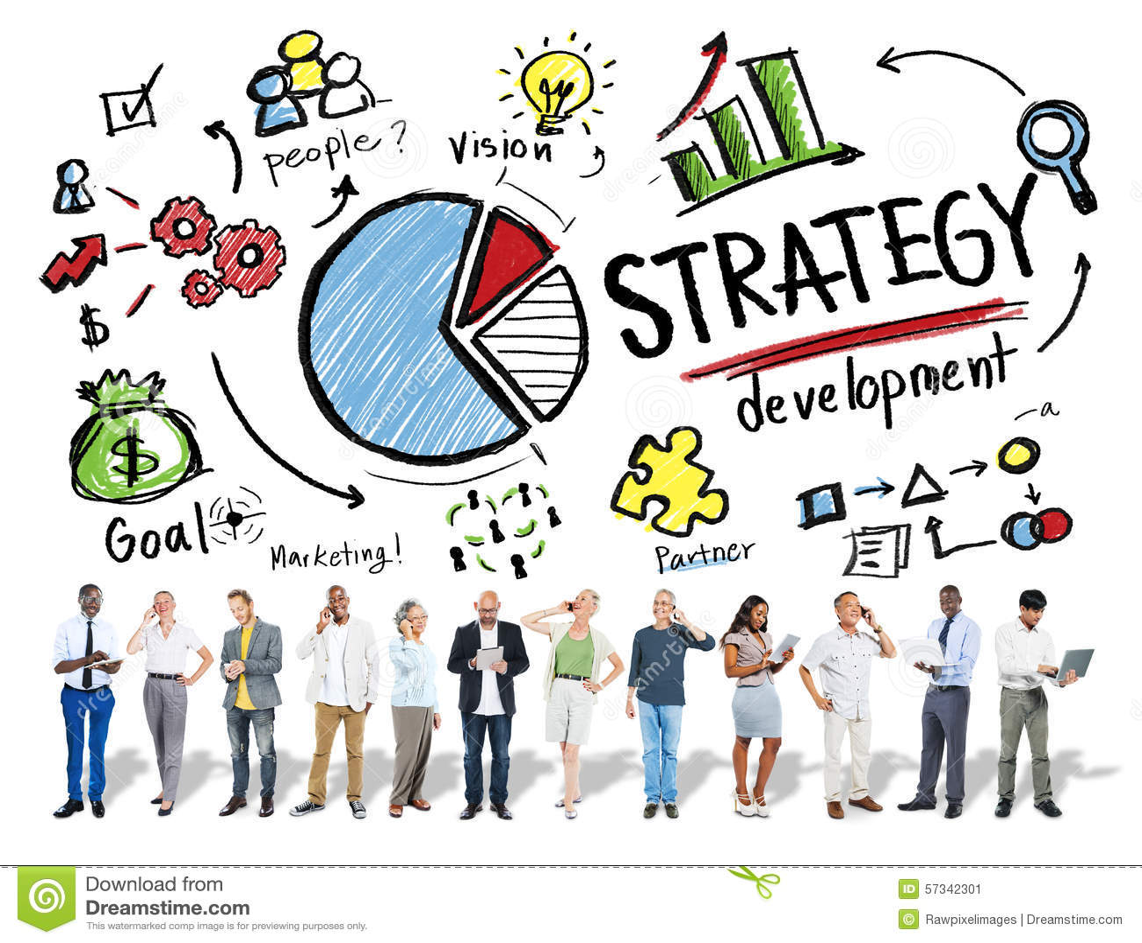 Strategie-Entwicklungs-Ziel-Marketing-Visions-Planungs-Geschäfts-Betrug