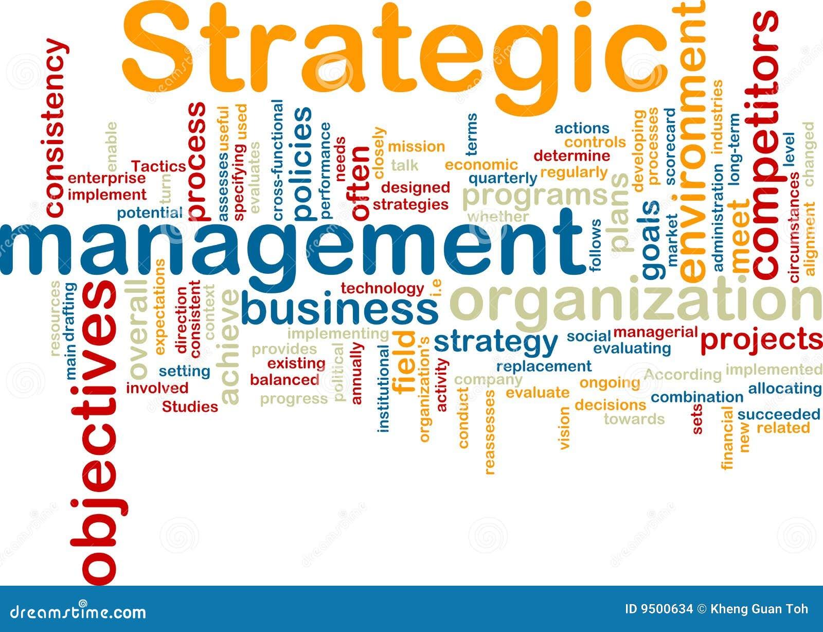Strategisk wordcloud för administration