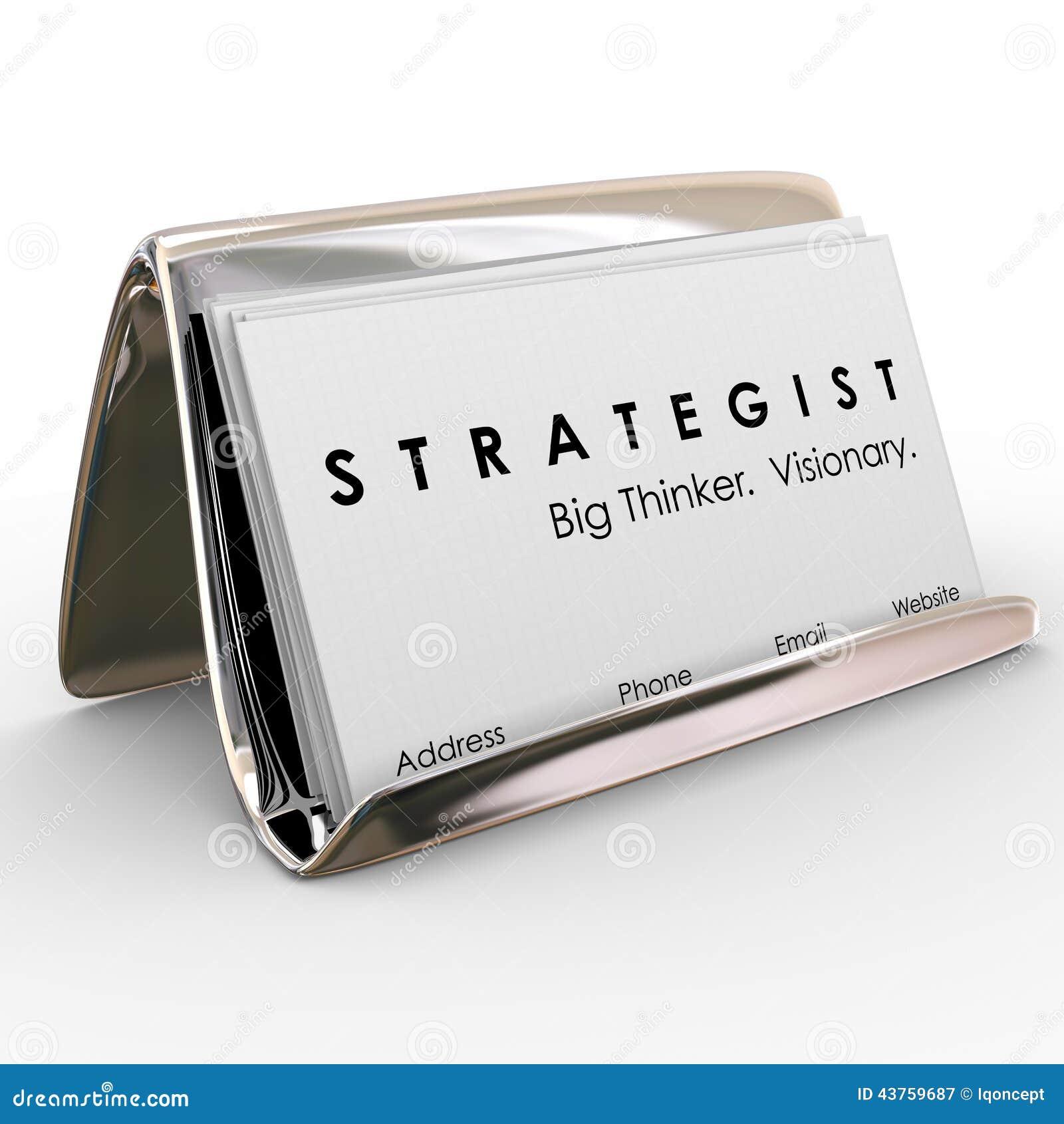 Visionary stock illustrations 5471 visionary stock illustrations strategist big thinker visionary business cards holder strategist big thinker and visionary words on colourmoves