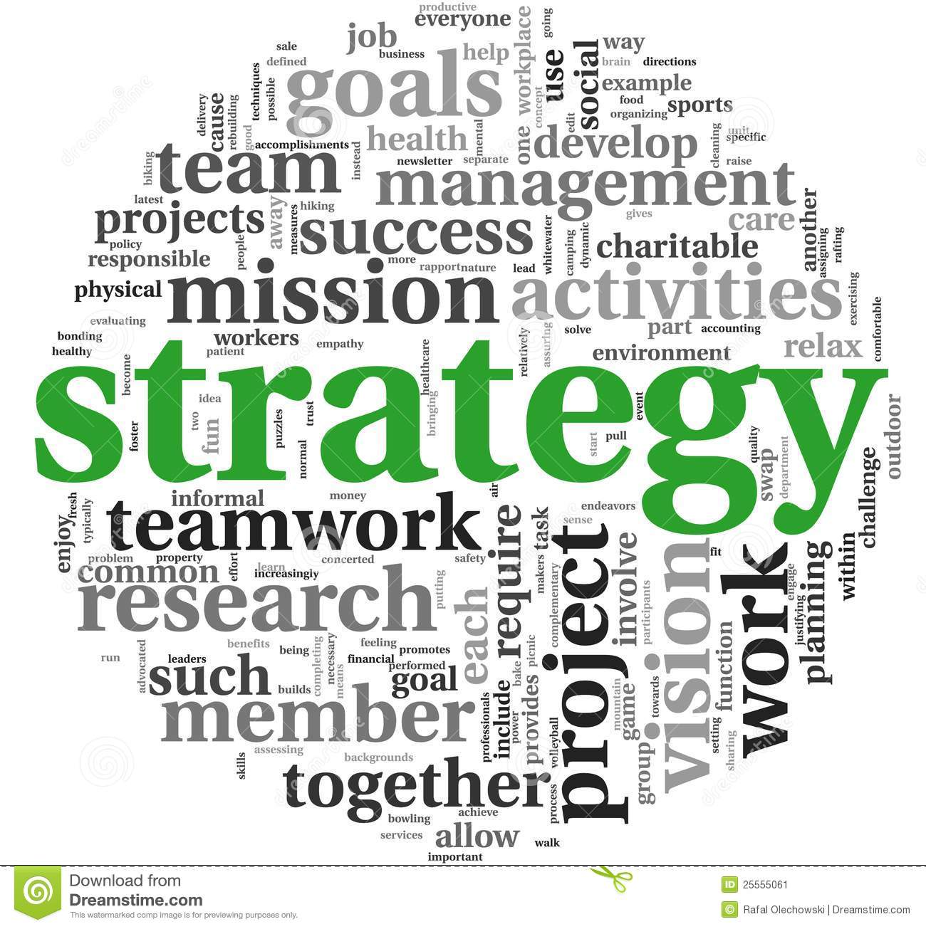 Strategy Concept In Word Tag Cloud Stock Image - Image: 25555061