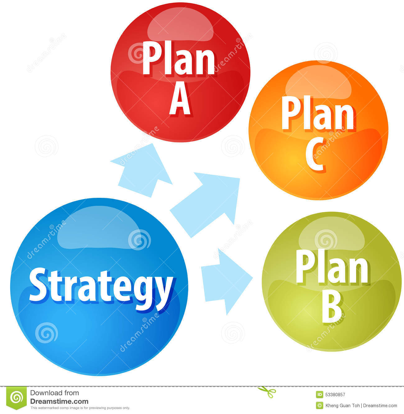 Strategy Options Business Diagram Illustration Stock