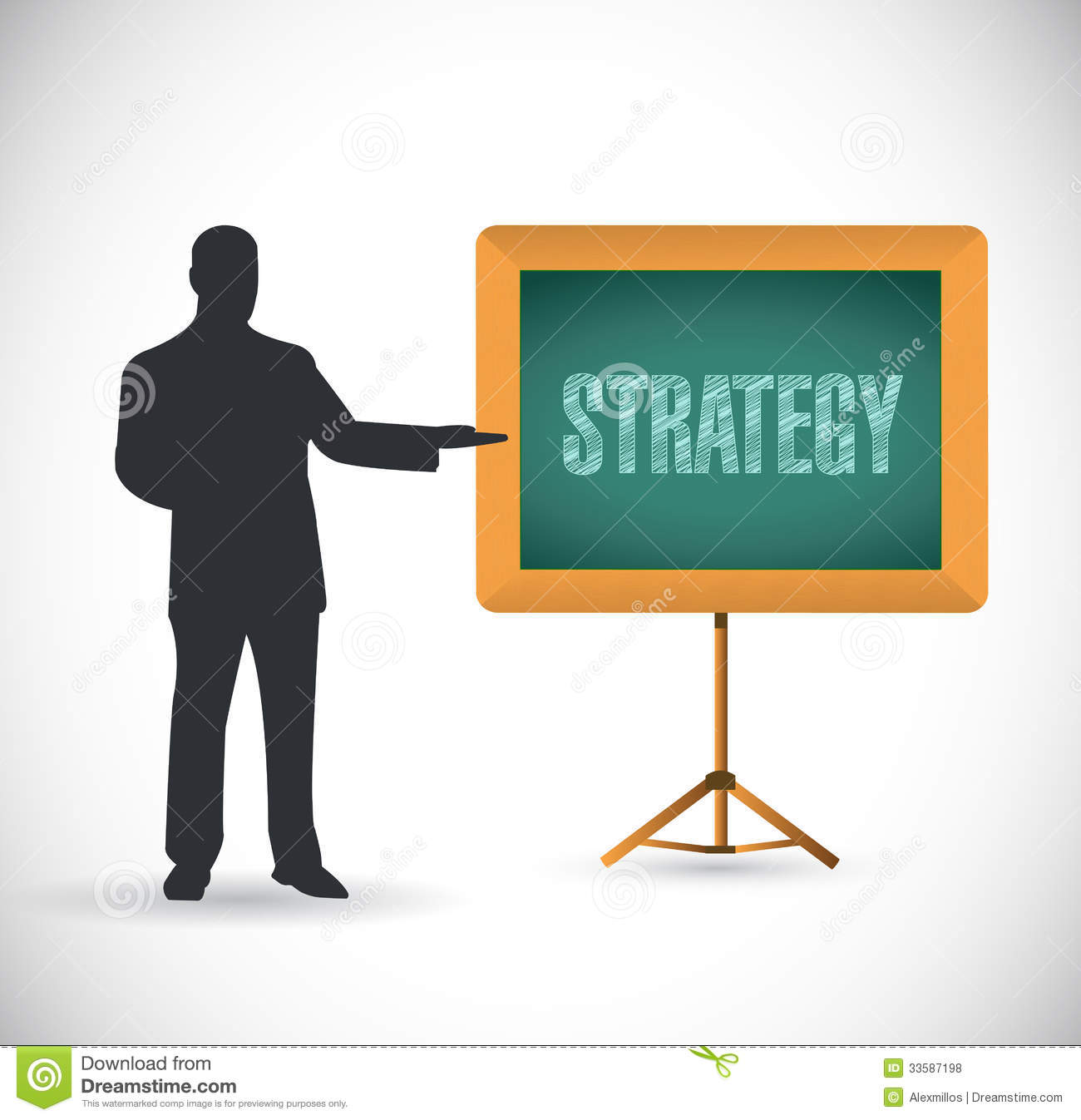 Strategy Presentation Concept Illustration Royalty Free