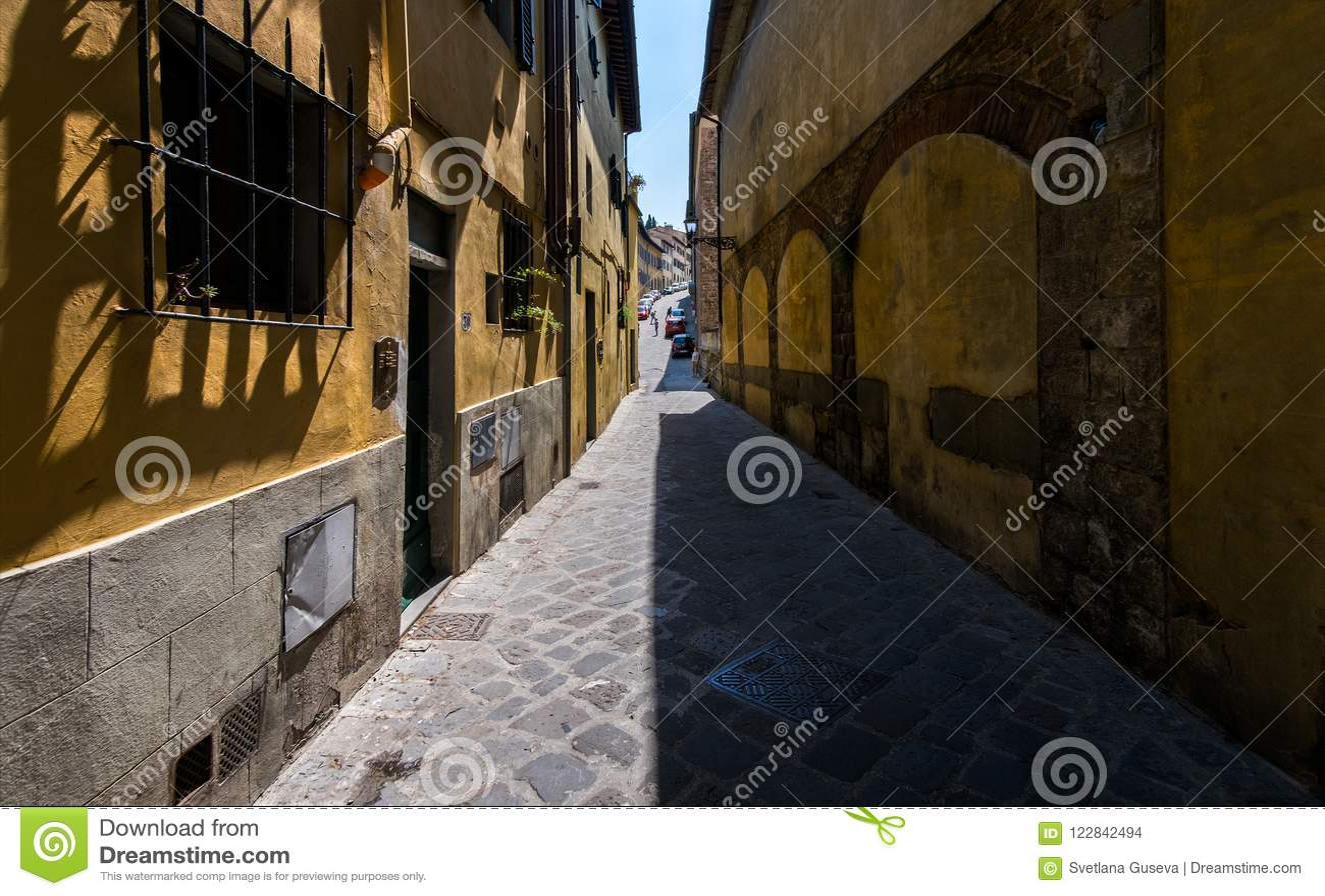Straten en stegen van de oude stad van Florence Italië