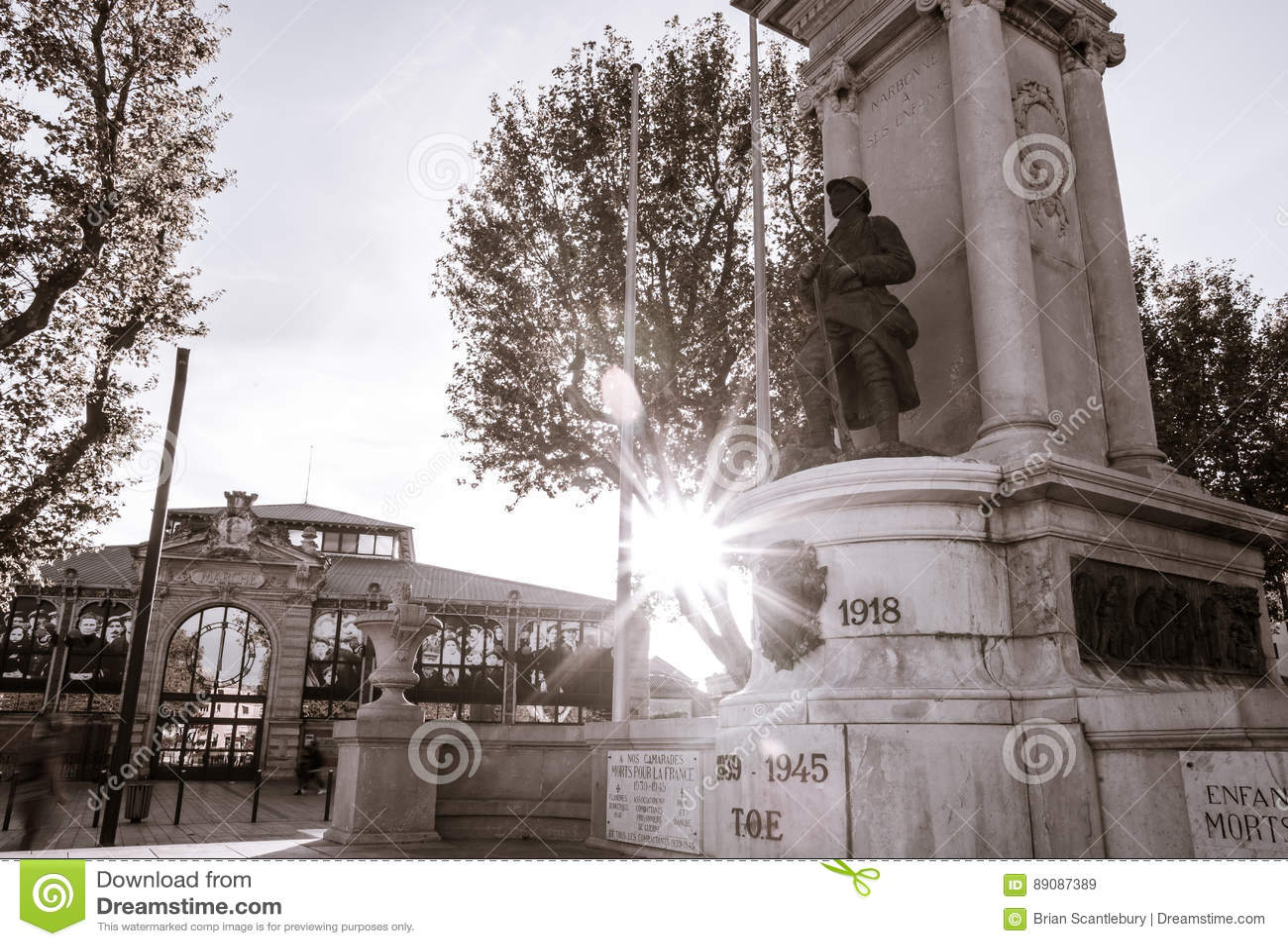 Straten, scènes en architectuur Narbonne, Frankrijk