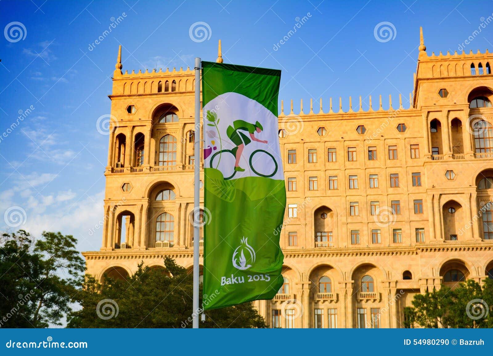 Straten van Baku, 1st Europese spelen in Baku, affiche