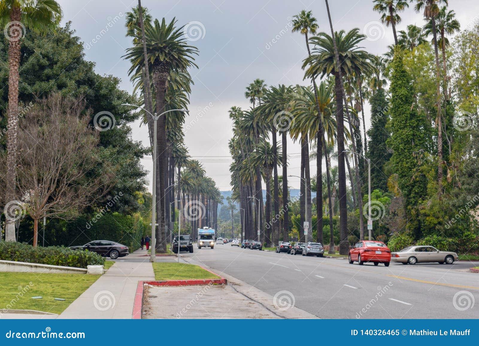 Straten van Beverly Hills, Californië
