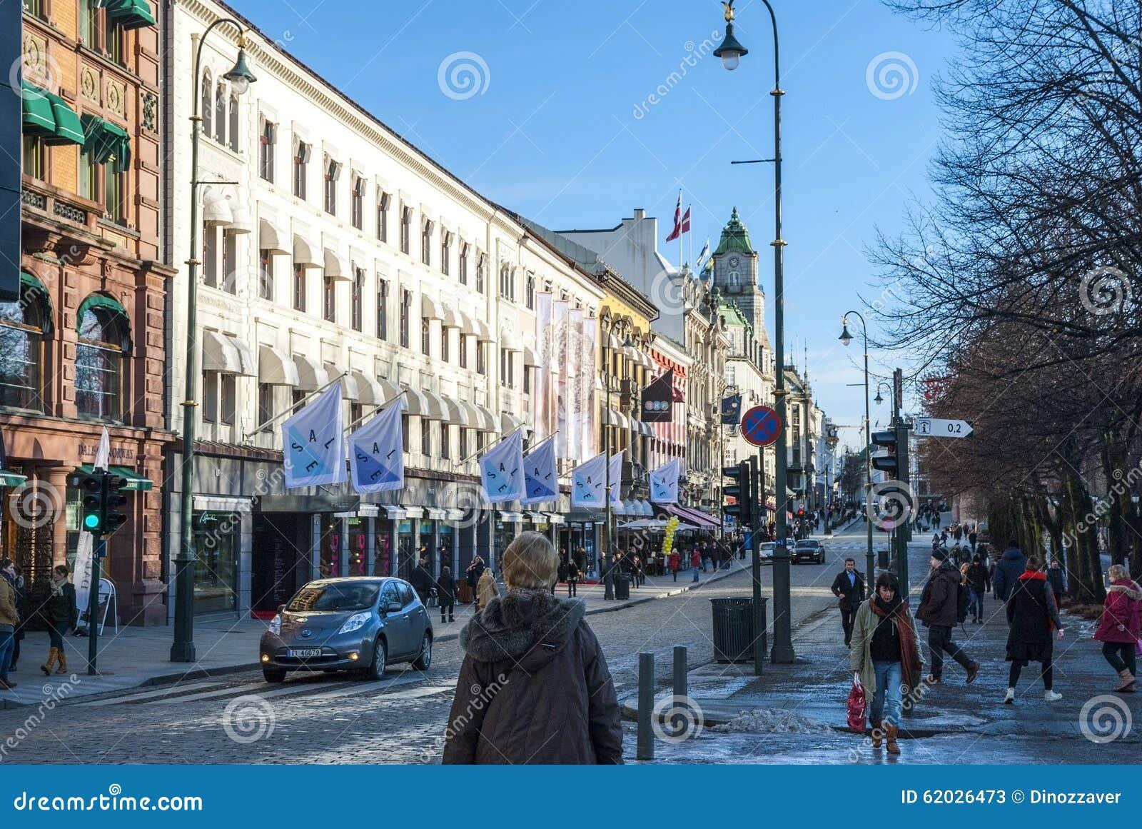 Straten van Oslo, Noorwegen