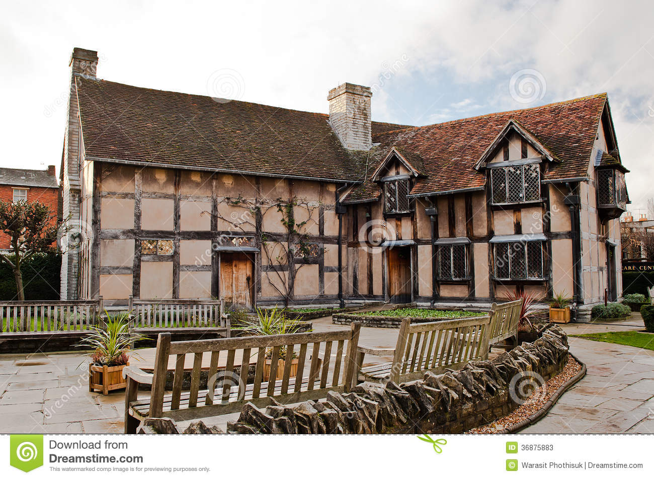 Shakespeares Birthplace In Stratford Upon Avon England