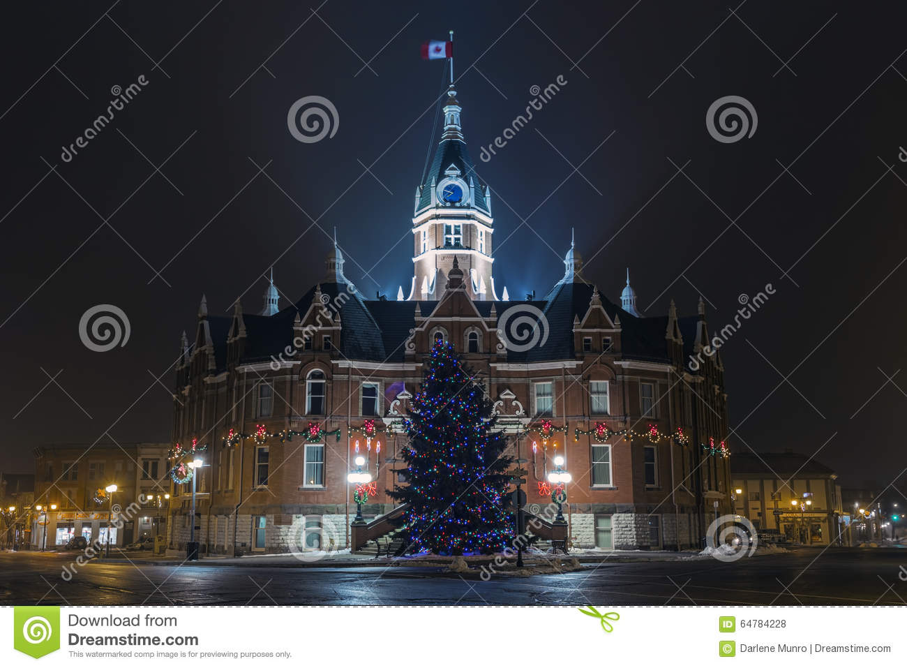 download stratford city hall christmas decorations editorial stock photo image of canada decoration