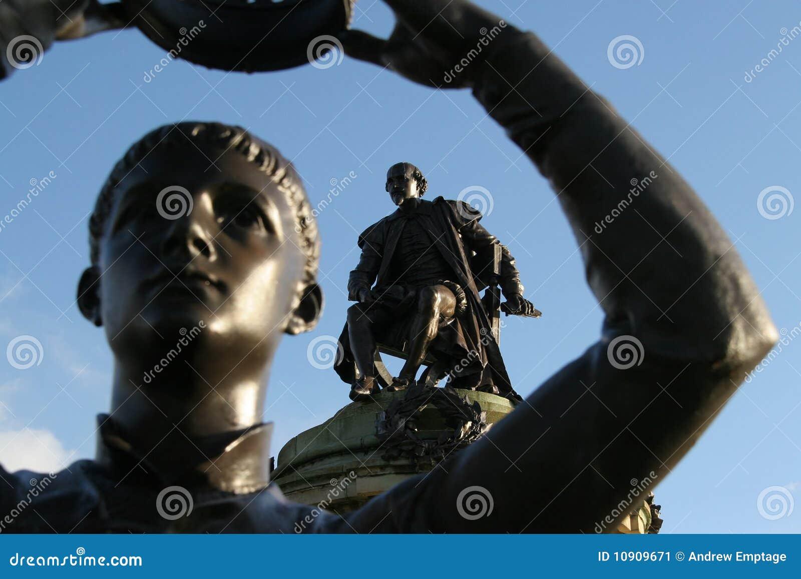 Stratford, la estatua de Shakespeare