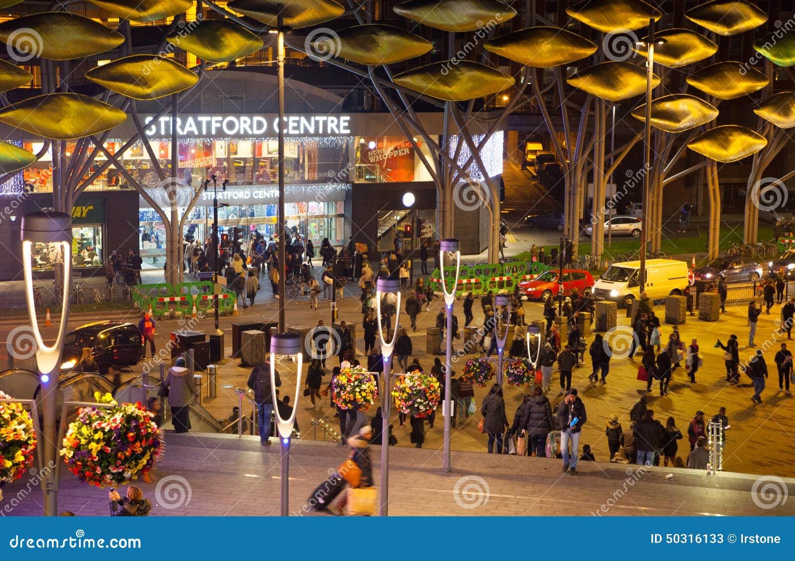 Stratford village shopping centre, London
