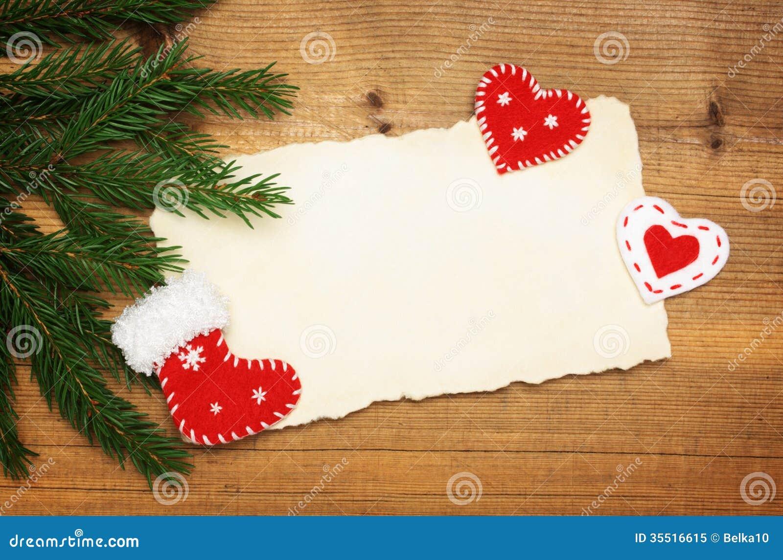 Strato di carta con le decorazioni dell 39 albero di natale e - Decorazioni con fazzoletti di carta ...