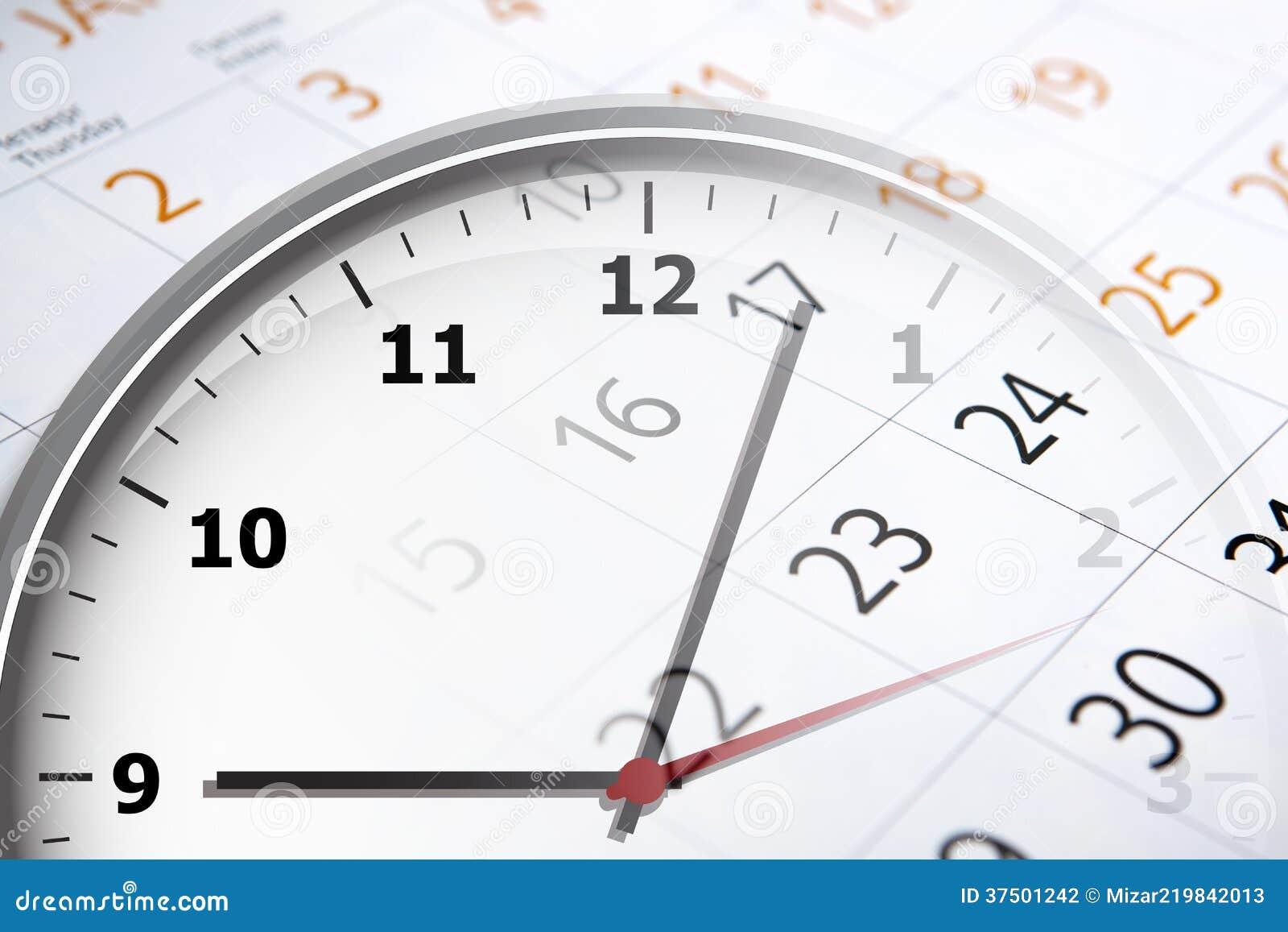 Calendario Con Numero Giorni.Strato Di Un Calendario Con Il Numero Dei Giorni E Dell