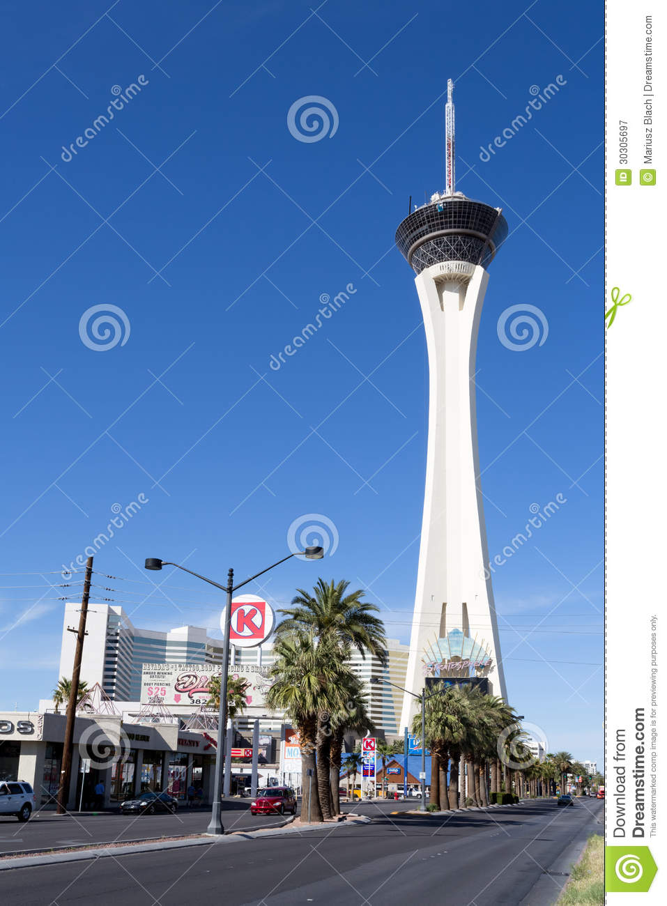 stratosphere hotel and casino editorial photography image of gamble landmark 30305697. Black Bedroom Furniture Sets. Home Design Ideas