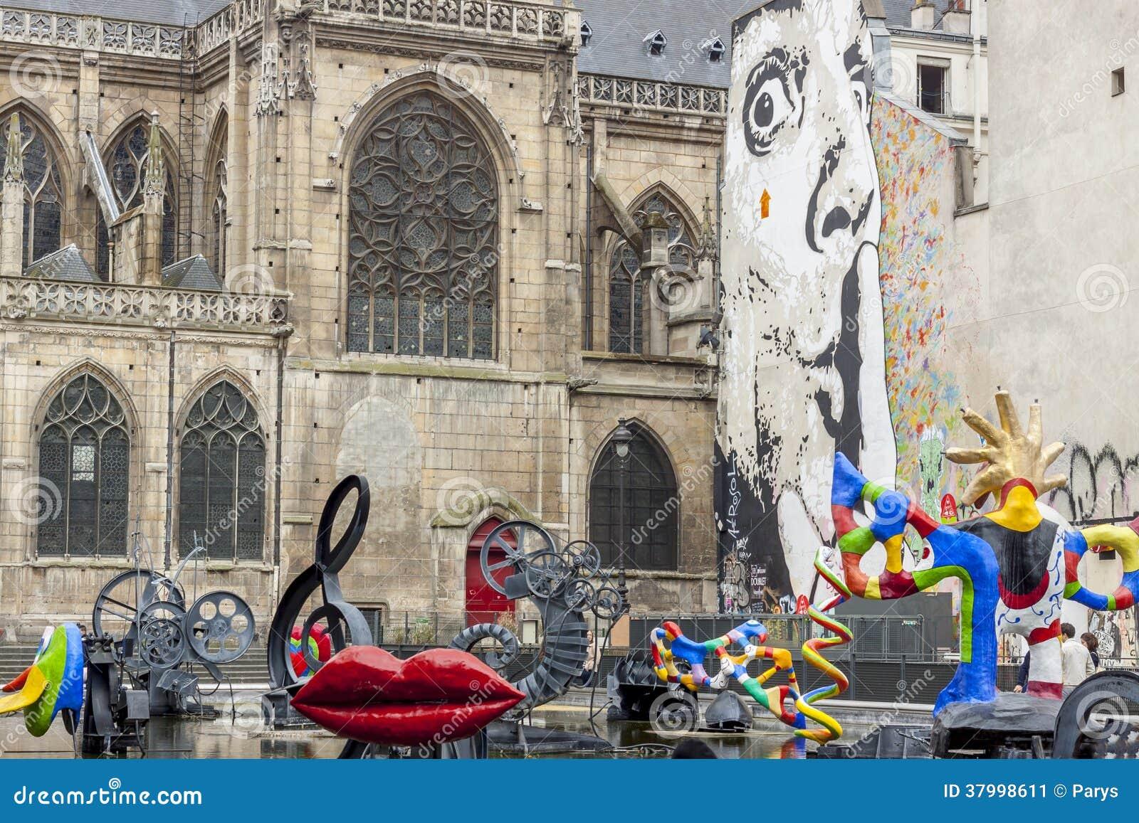 Stravinsky fontanna - Paryż, Francja