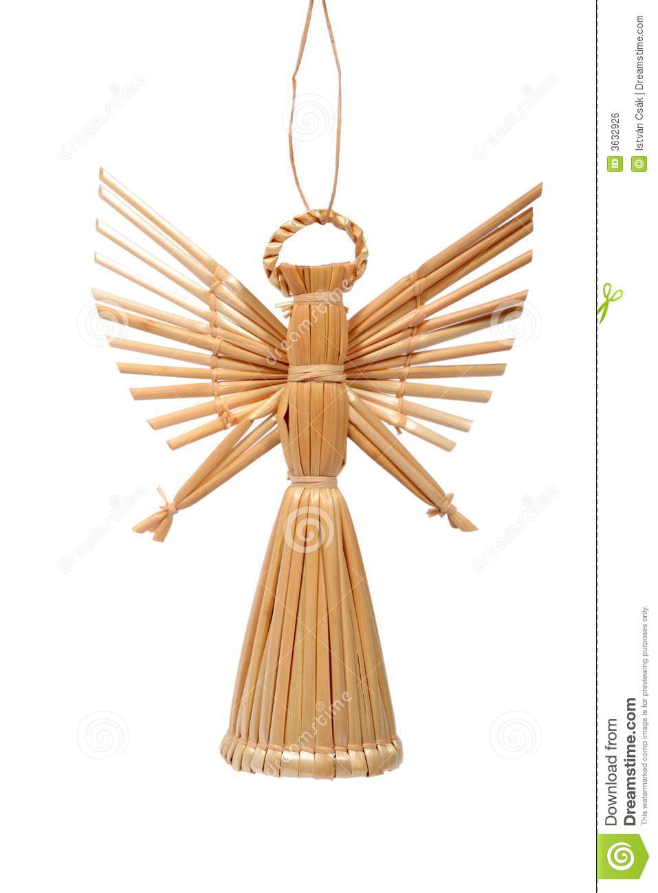 Straw Angel Royalty Free Stock Image Image 3632926