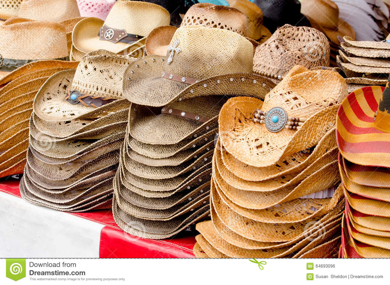 d7076728bc4a5e Straw cowboy hats stock photo. Image of textures, shopping - 64693096