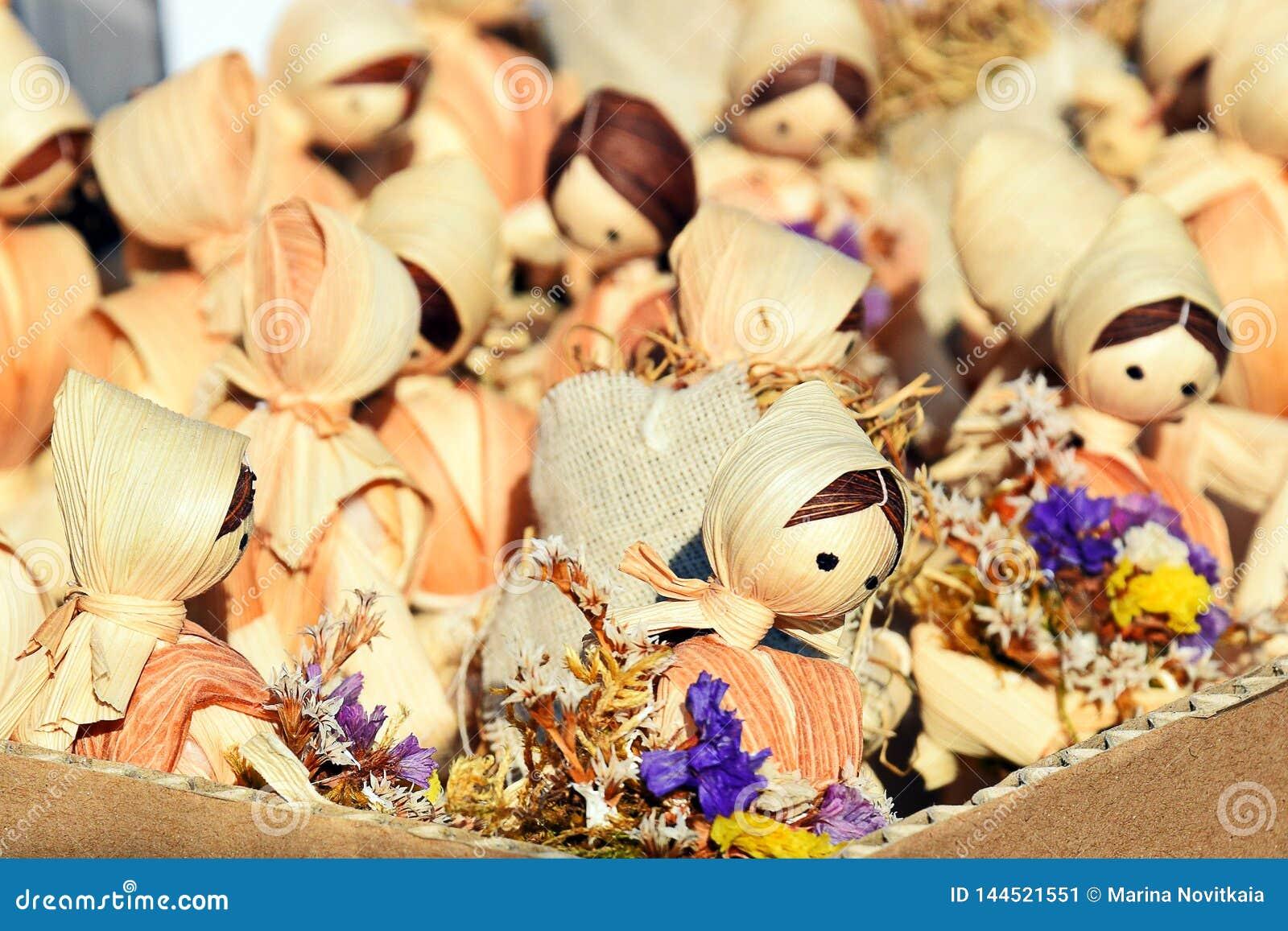 Straw Dolls Brinquedo, lembran?a Bonecas europeias pequenas maravilhosas