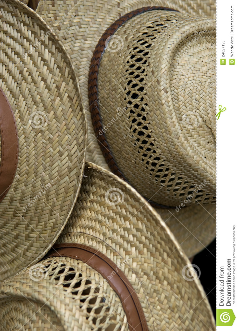 Straw hat pattern stock image. Image of straw, market ...